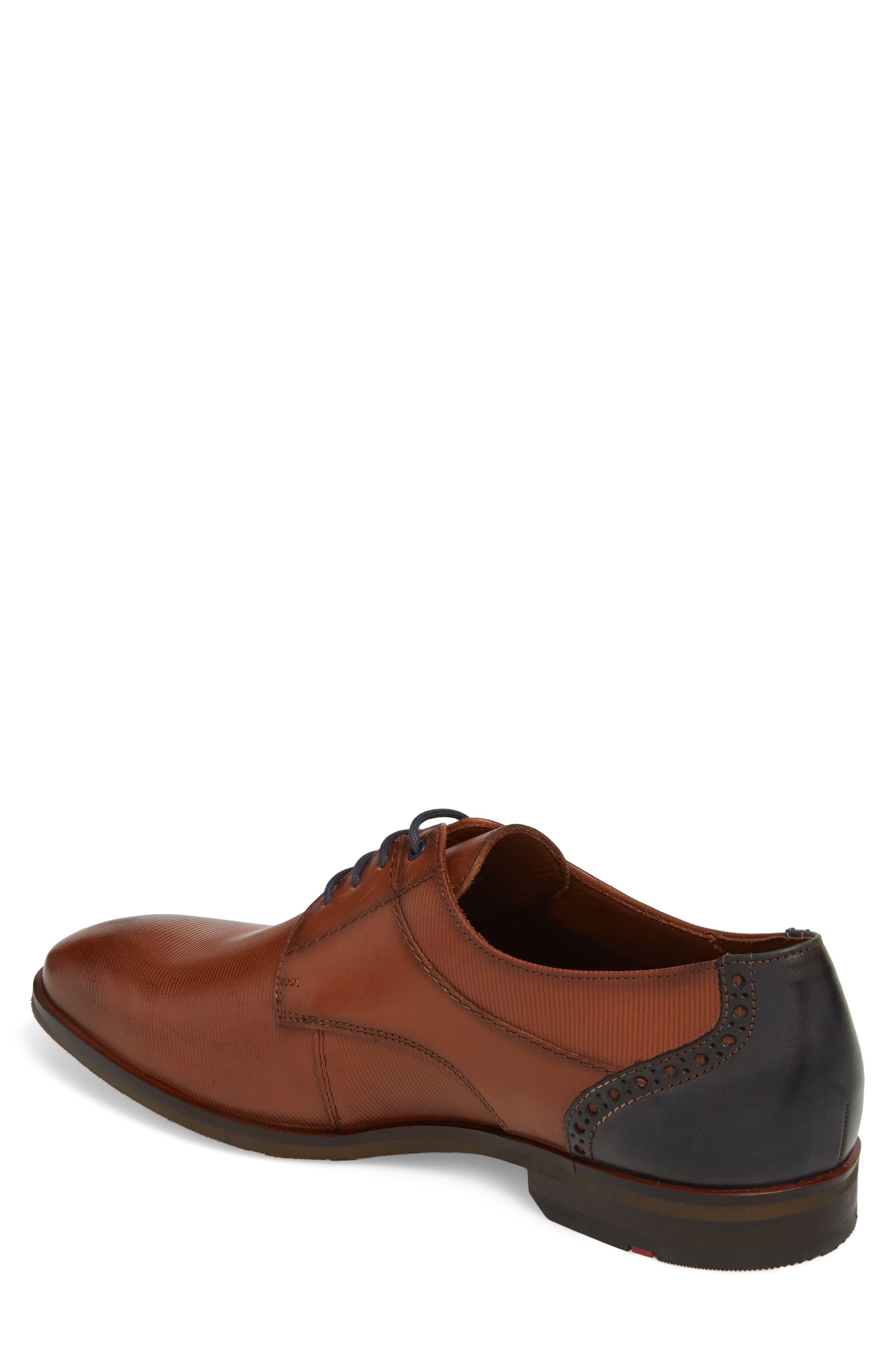 Hamilton Plain Toe Derby,                             Alternate thumbnail 2, color,                             COGNAC LEATHER