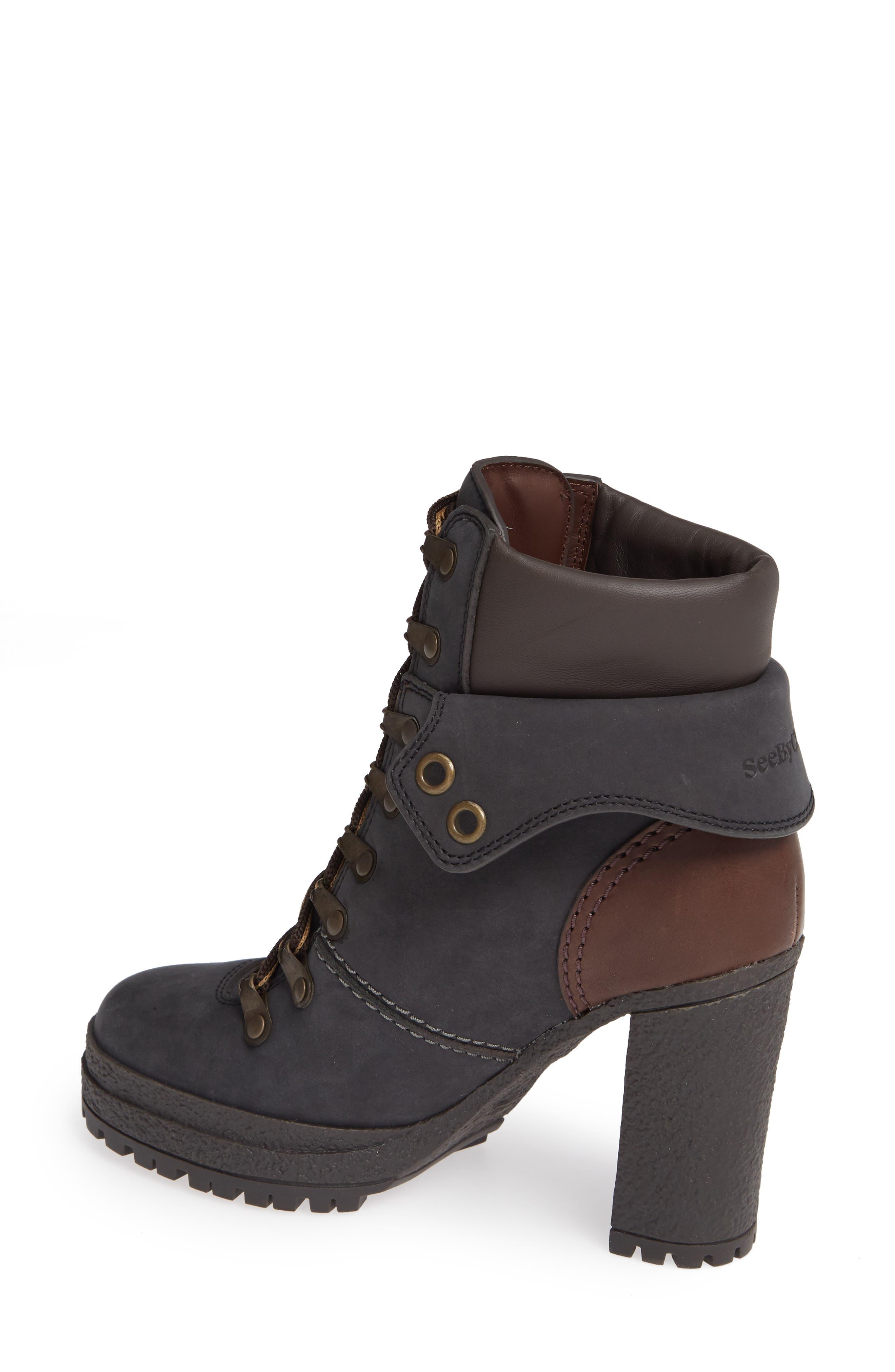 Eileen Platform Boot,                             Alternate thumbnail 2, color,                             BLACK
