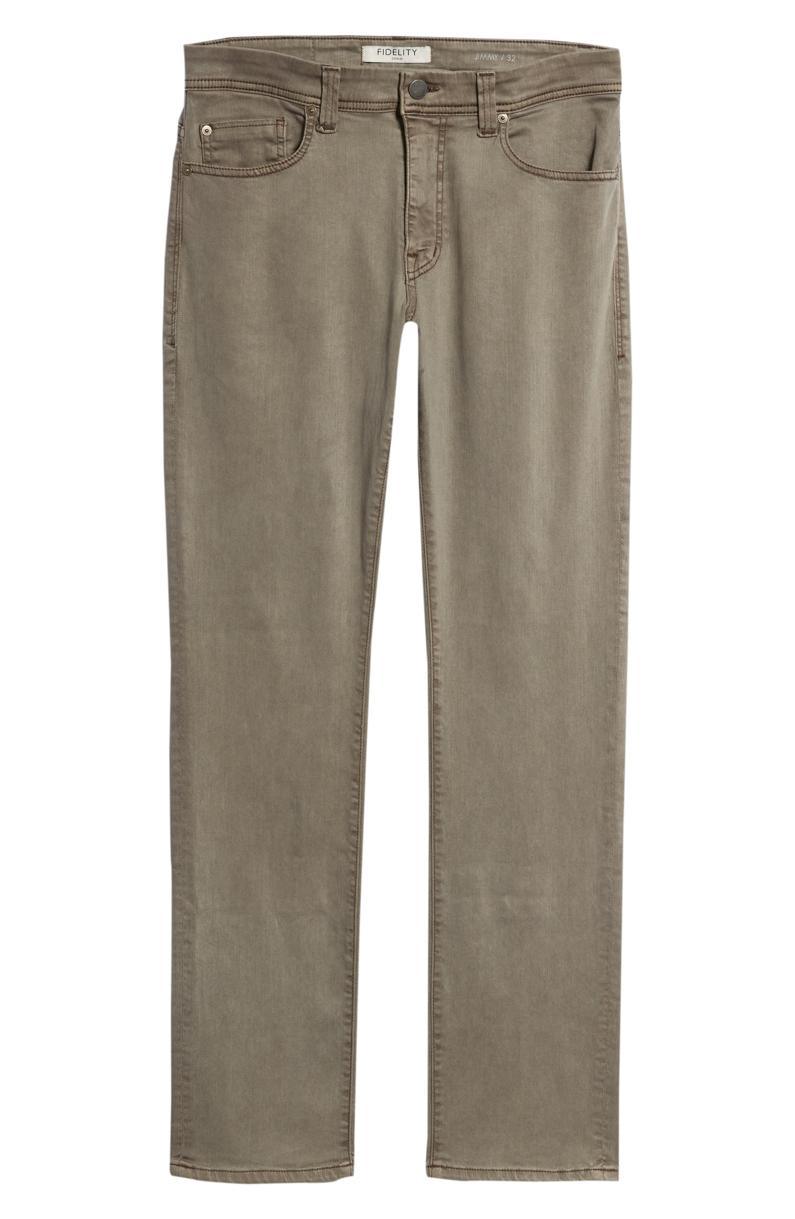 Jimmy Slim Straight Leg Twill Pants,                             Alternate thumbnail 6, color,                             200