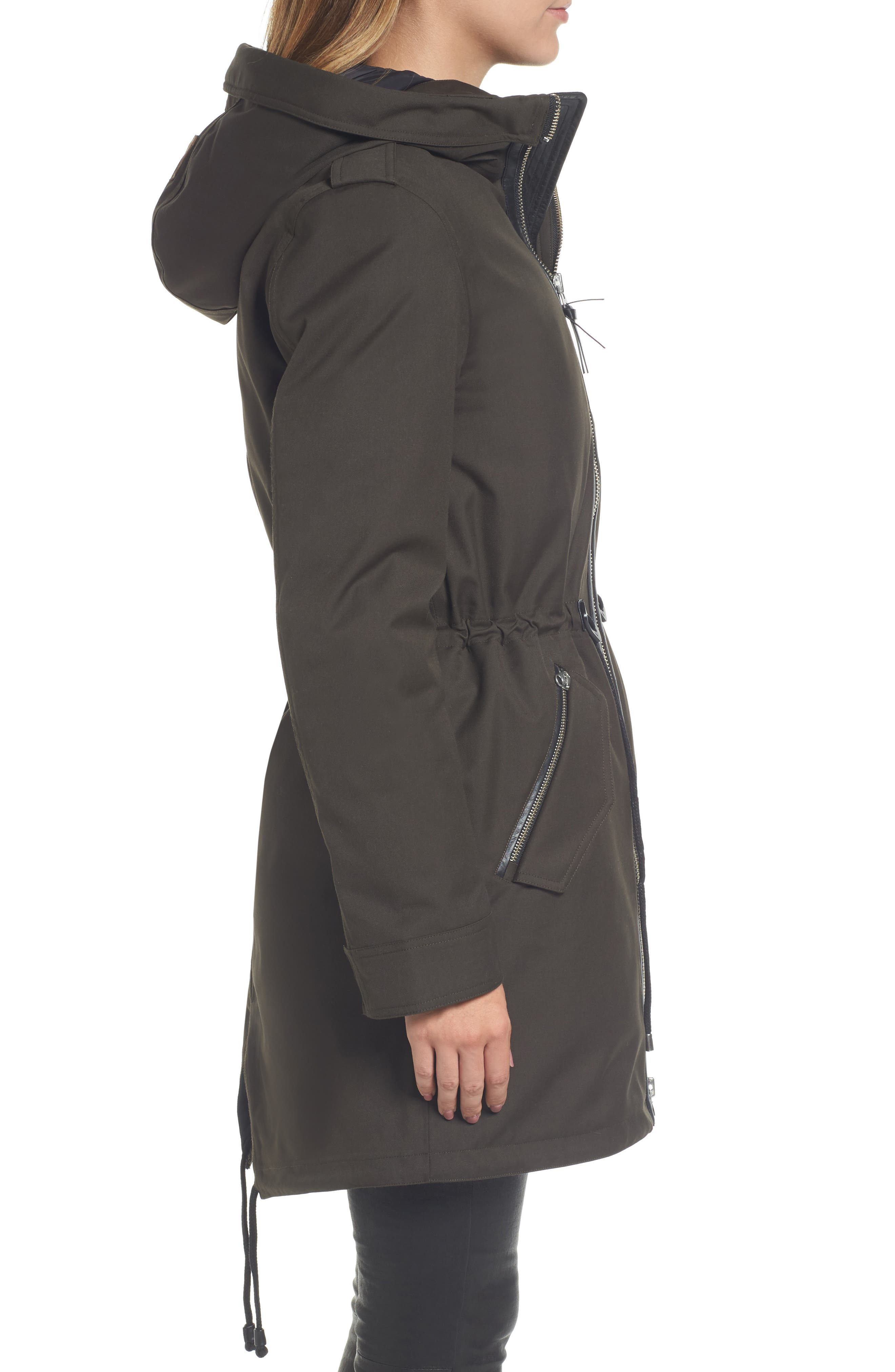 Rada-SP Hooded Raincoat with Removable Down Liner,                             Alternate thumbnail 3, color,                             355