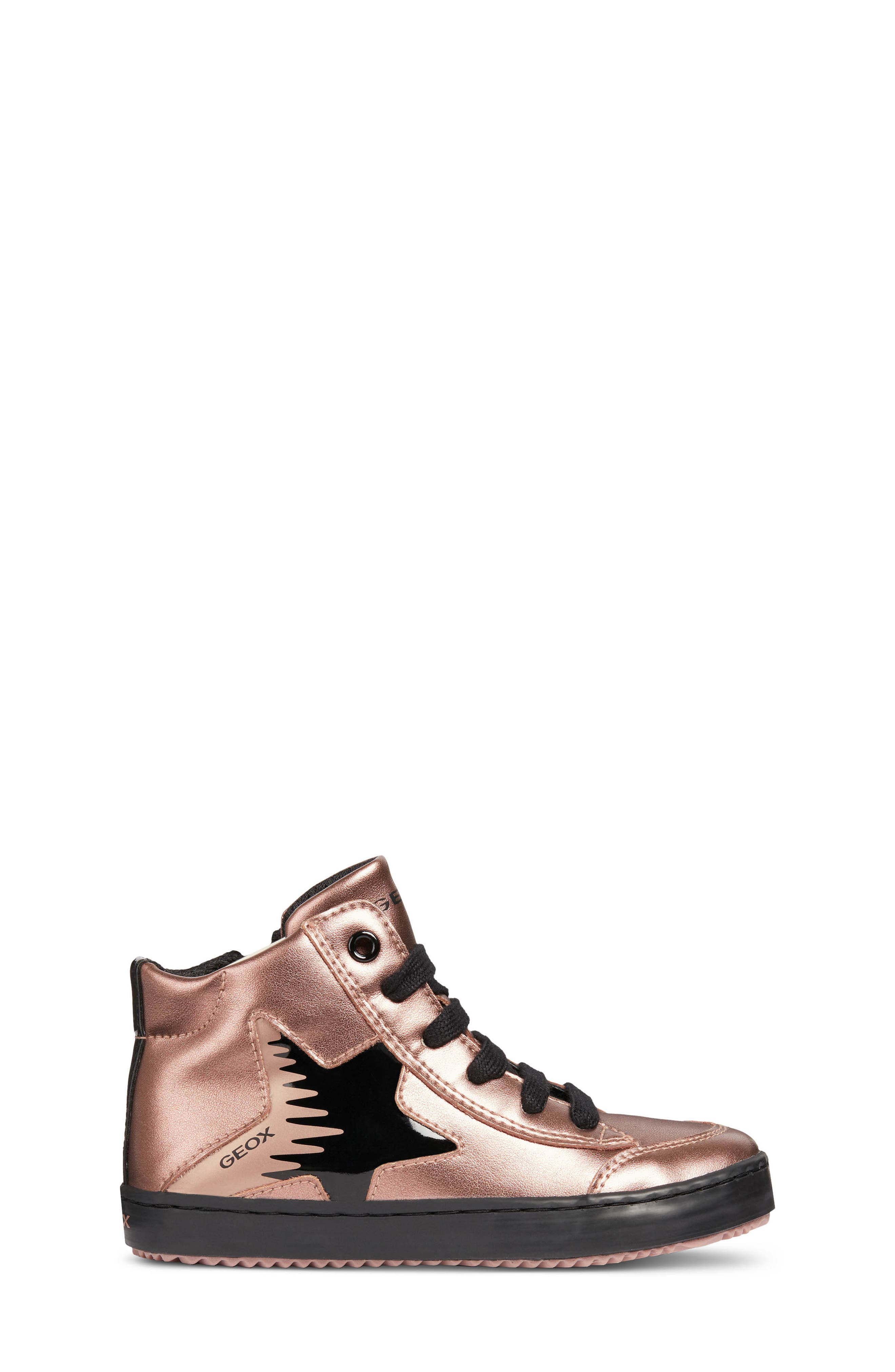 Kalispera Metallic High Top Sneaker,                             Alternate thumbnail 3, color,                             ROSE SMOKE