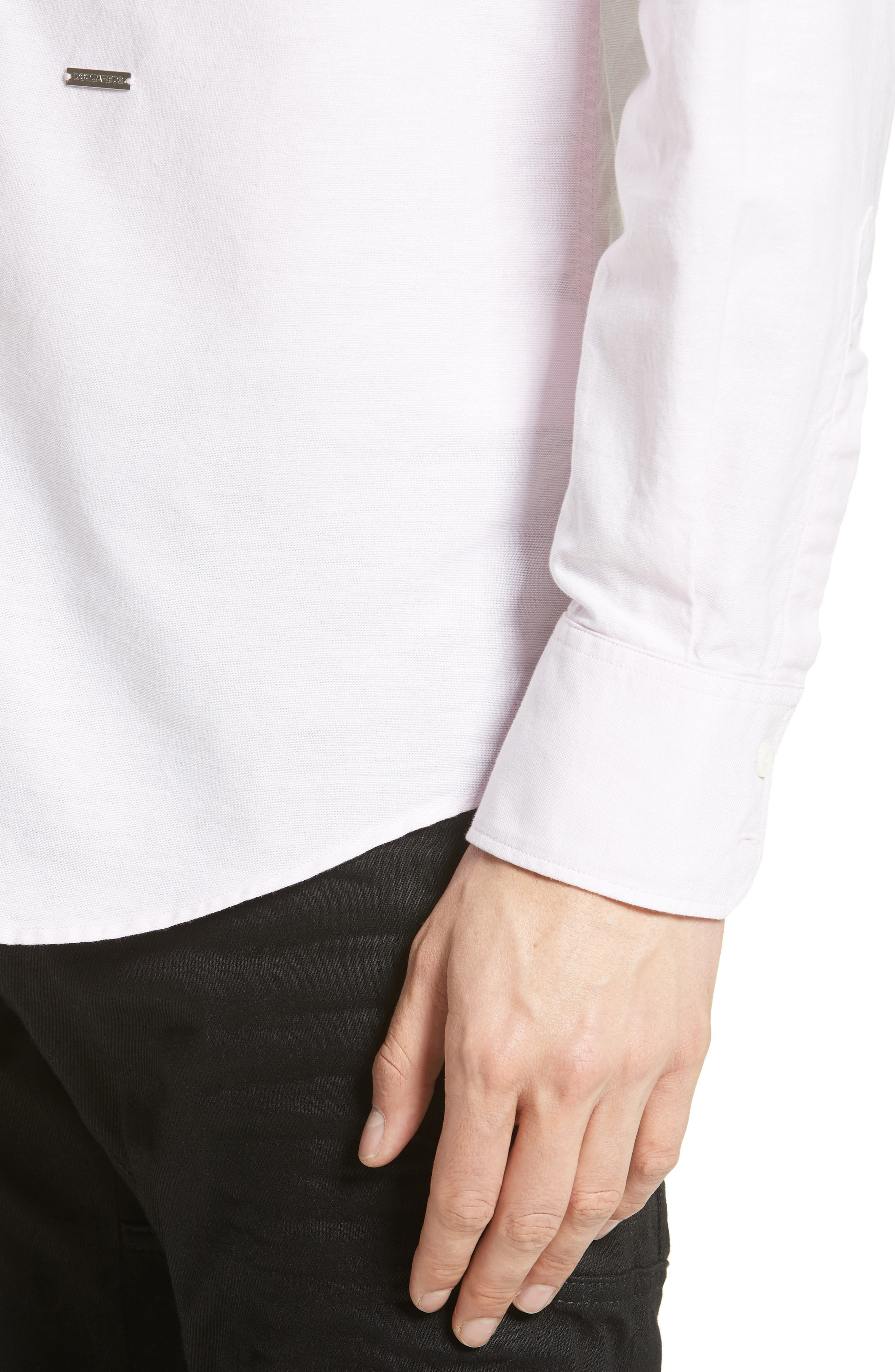 Extra Trim Fit Oxford Sport Shirt,                             Alternate thumbnail 5, color,                             650