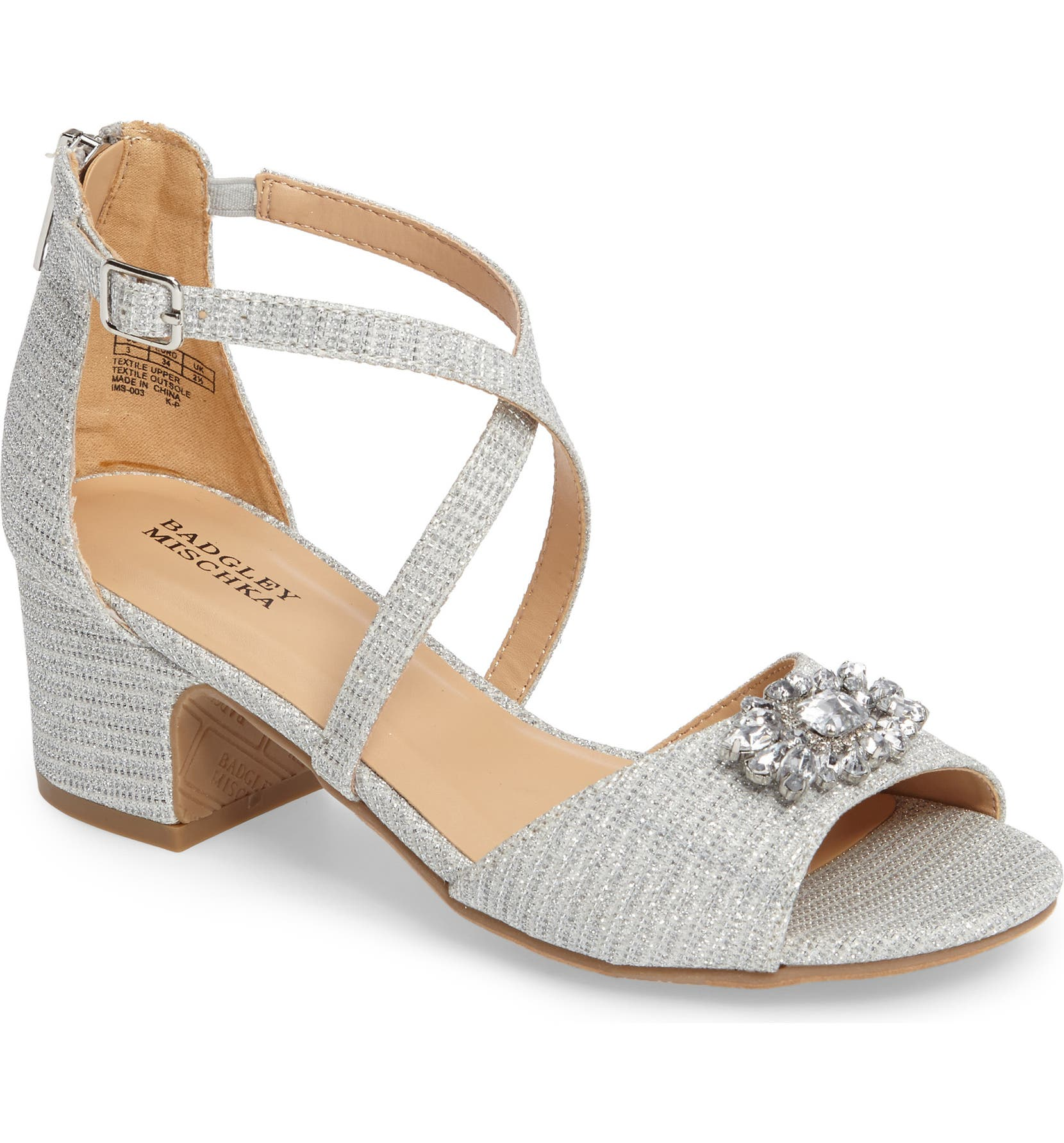 2d2417505 Badgley Mischka Pernia Gems Sandal (Toddler