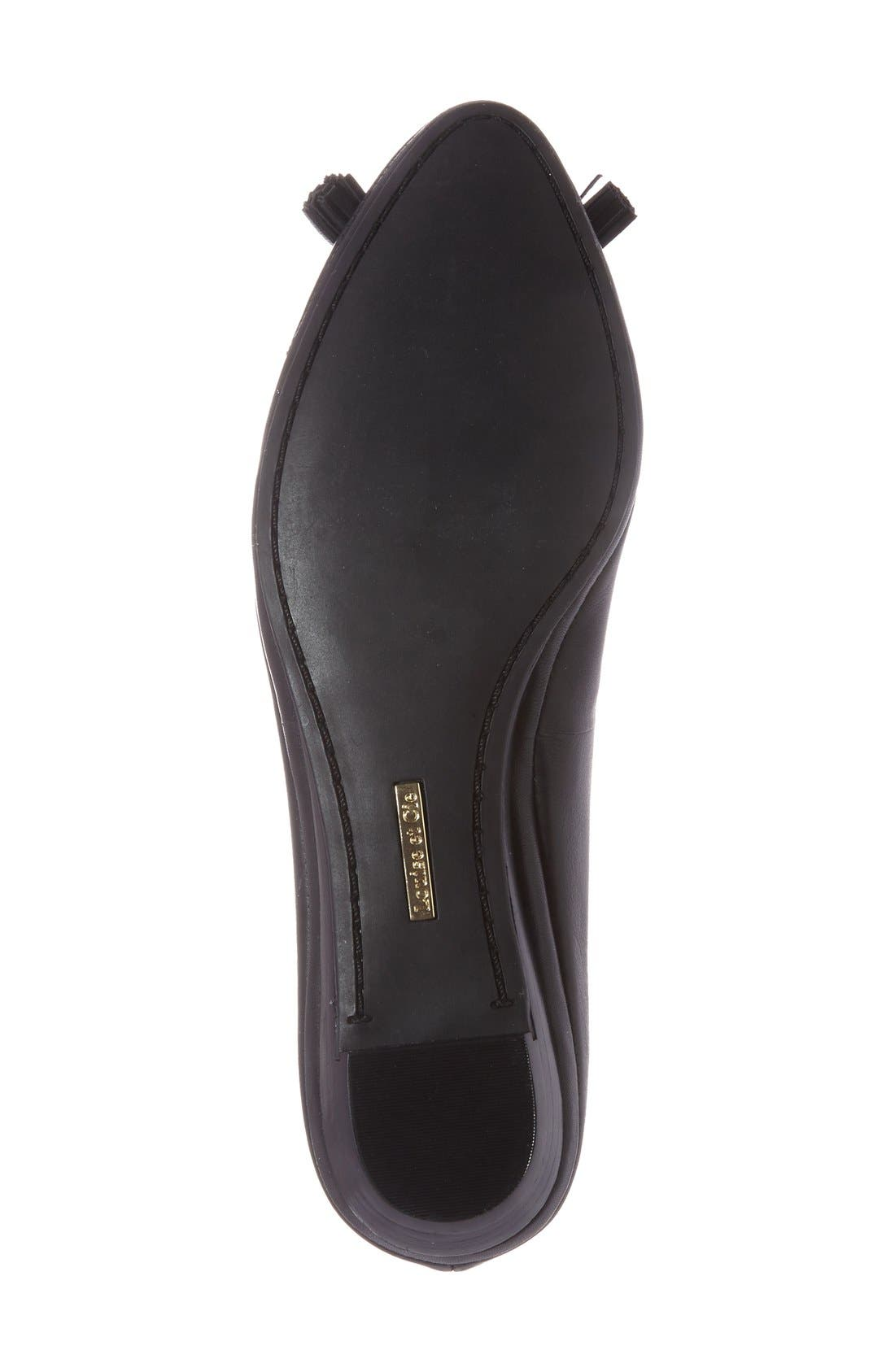 LOUISE ET CIE,                             'Aradella' Genuine Calf Hair Pointy Toe Flat,                             Alternate thumbnail 3, color,                             002
