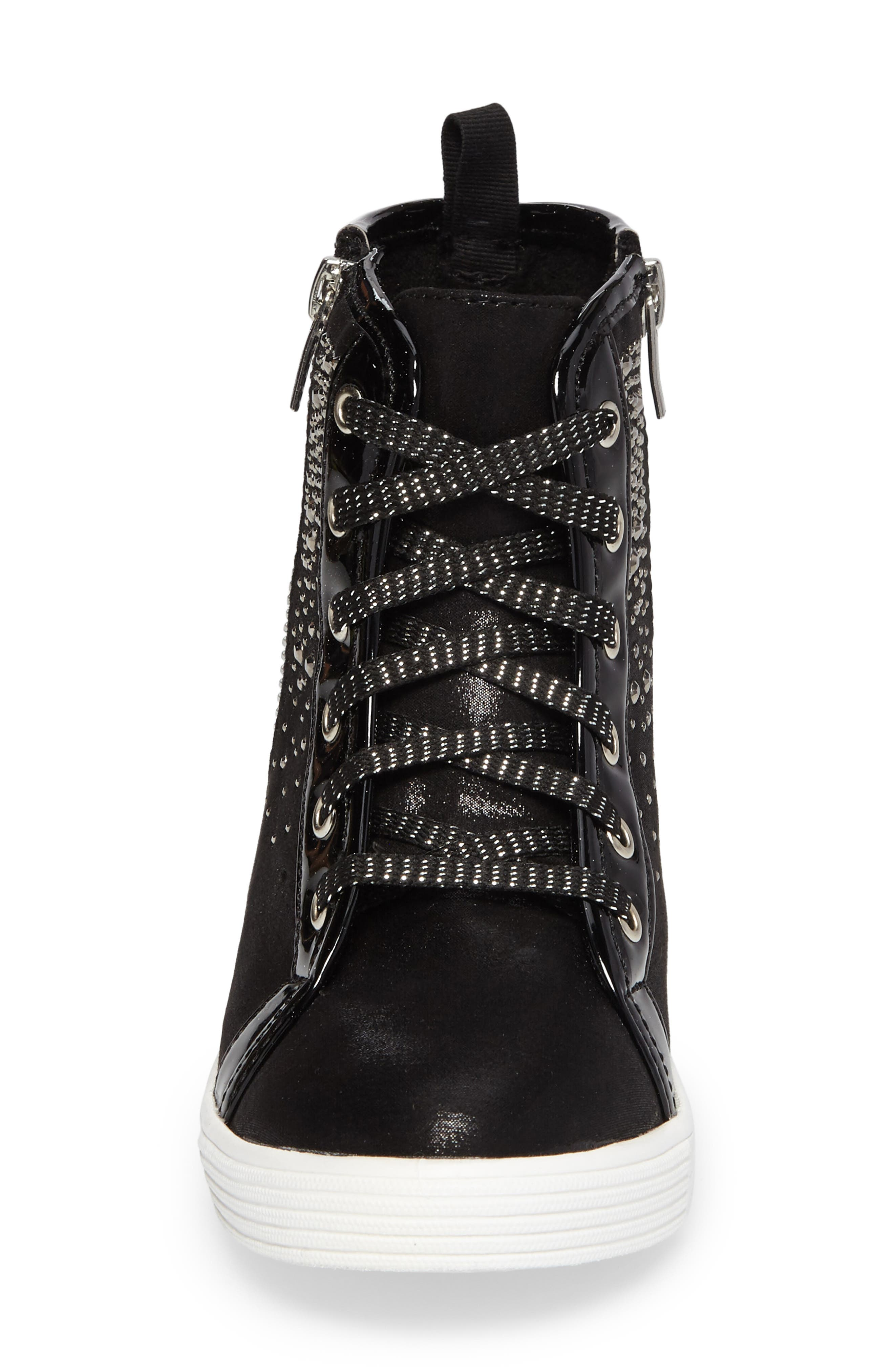 Vance Double Embellished Concealed Wedge High Top,                             Alternate thumbnail 7, color,