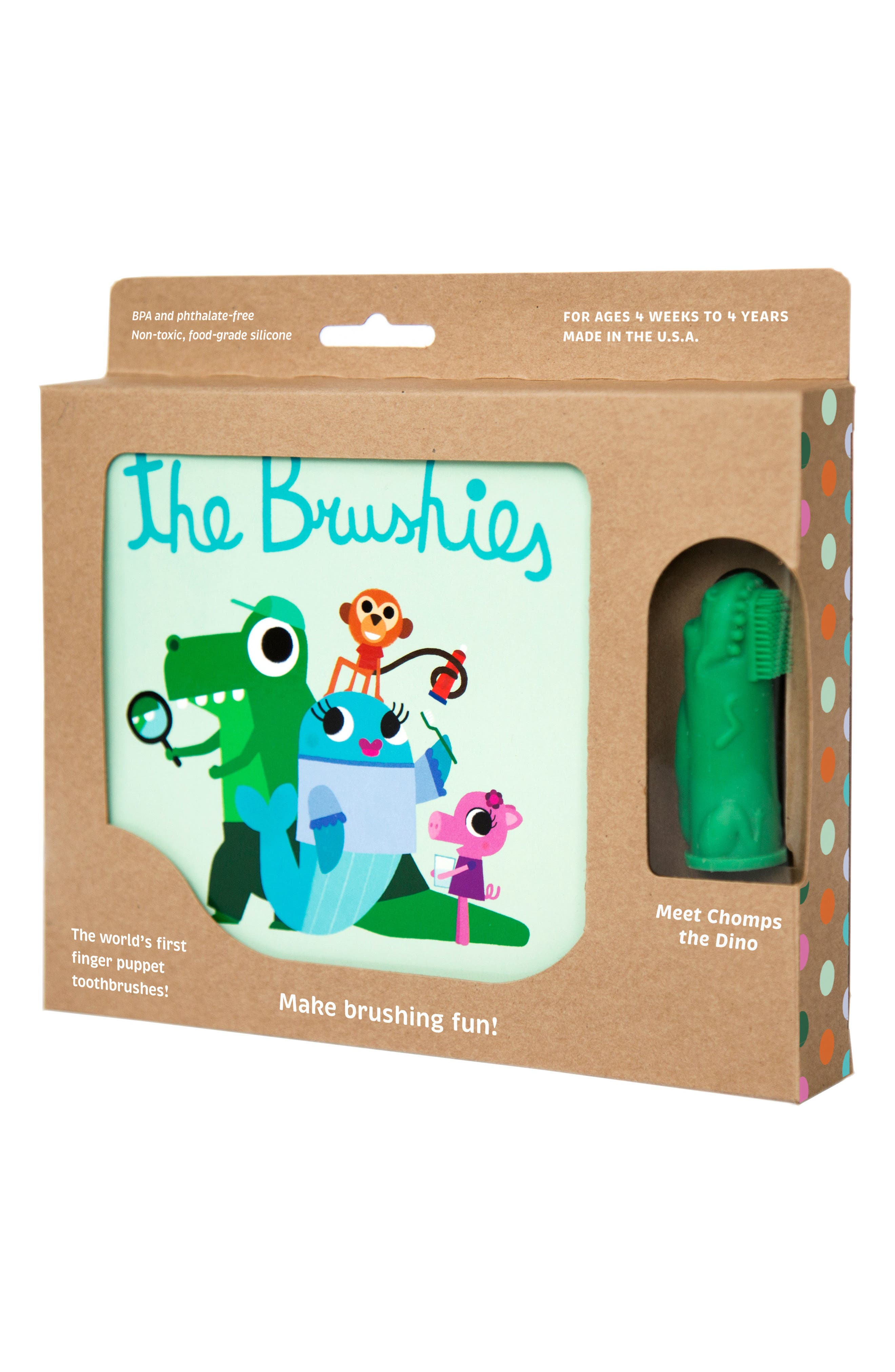 BRUSHIES Book & Finger Puppet Toothbrush, Main, color, 300