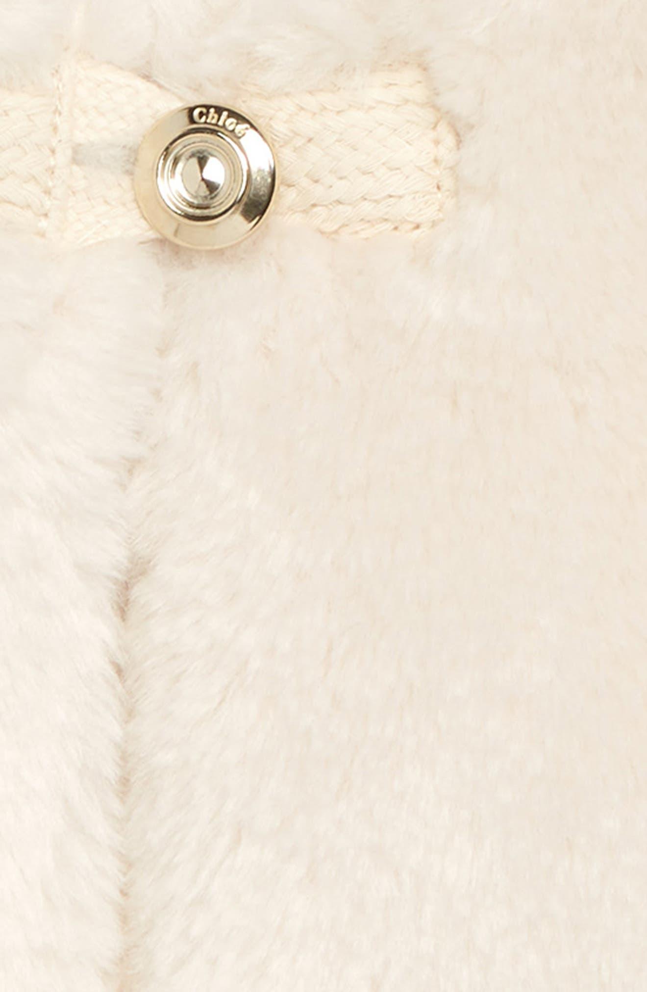Faux Fur Vest,                             Alternate thumbnail 2, color,                             127 IVOIRE