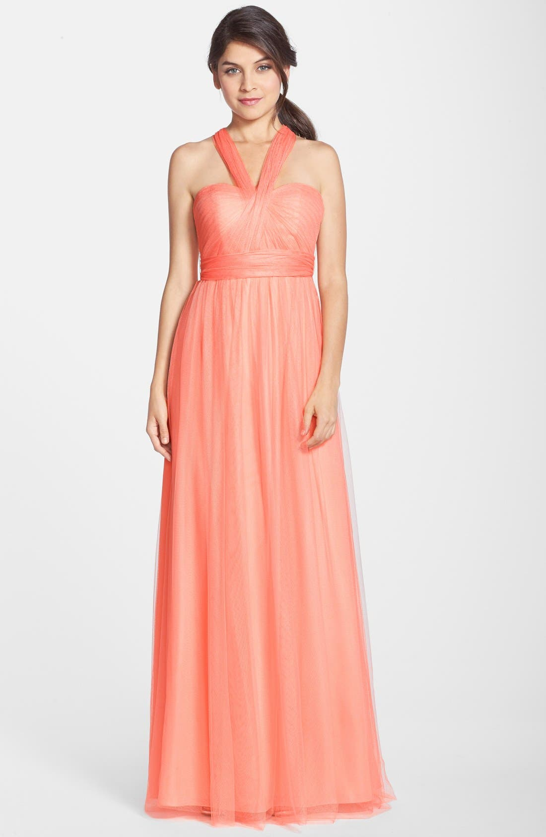 Annabelle Convertible Tulle Column Dress,                             Alternate thumbnail 139, color,