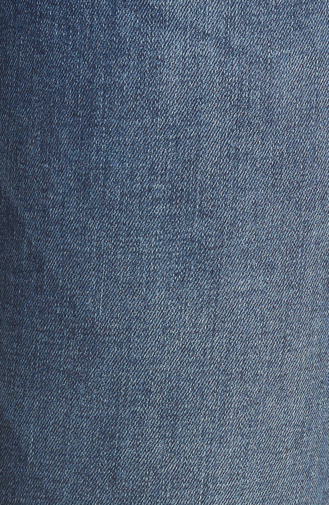 Tuxedo Stripe Ripped Skinny Jeans,                             Alternate thumbnail 5, color,                             400