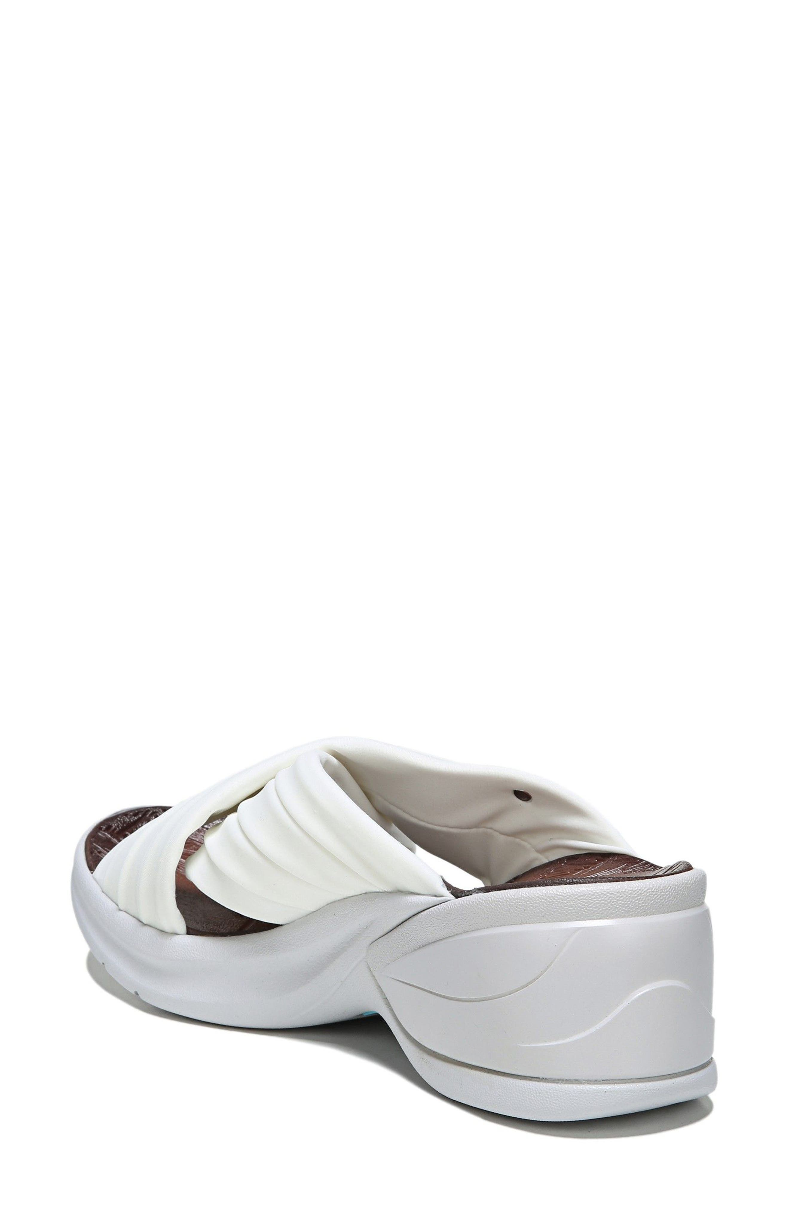 Knockout Slide Sandal,                             Alternate thumbnail 2, color,                             WHITE FABRIC