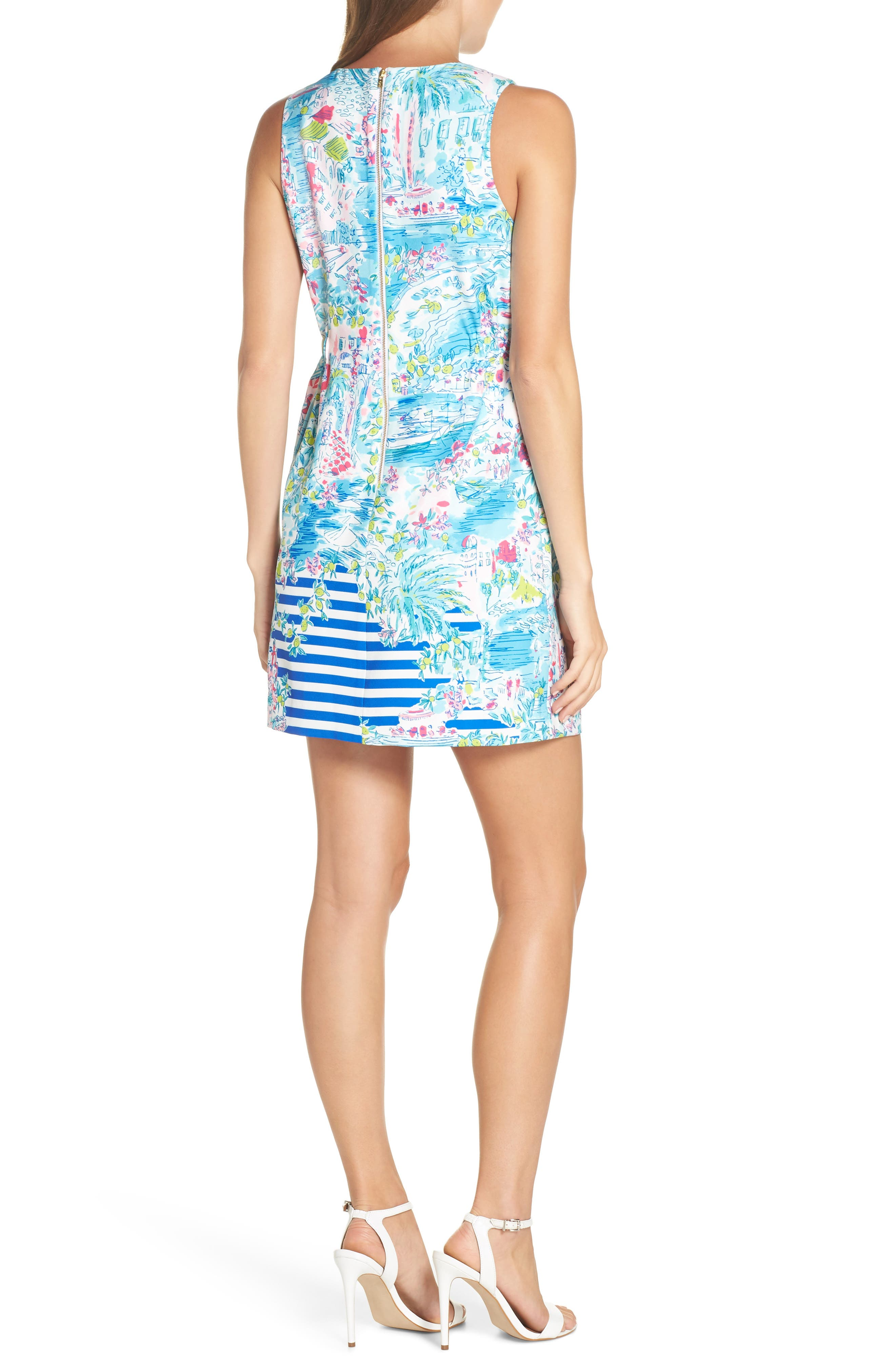 LILLY PULITZER<SUP>®</SUP>,                             Marli Stretch Shift Dress,                             Alternate thumbnail 2, color,                             MULTI POSTCARDS FROM POSITANO