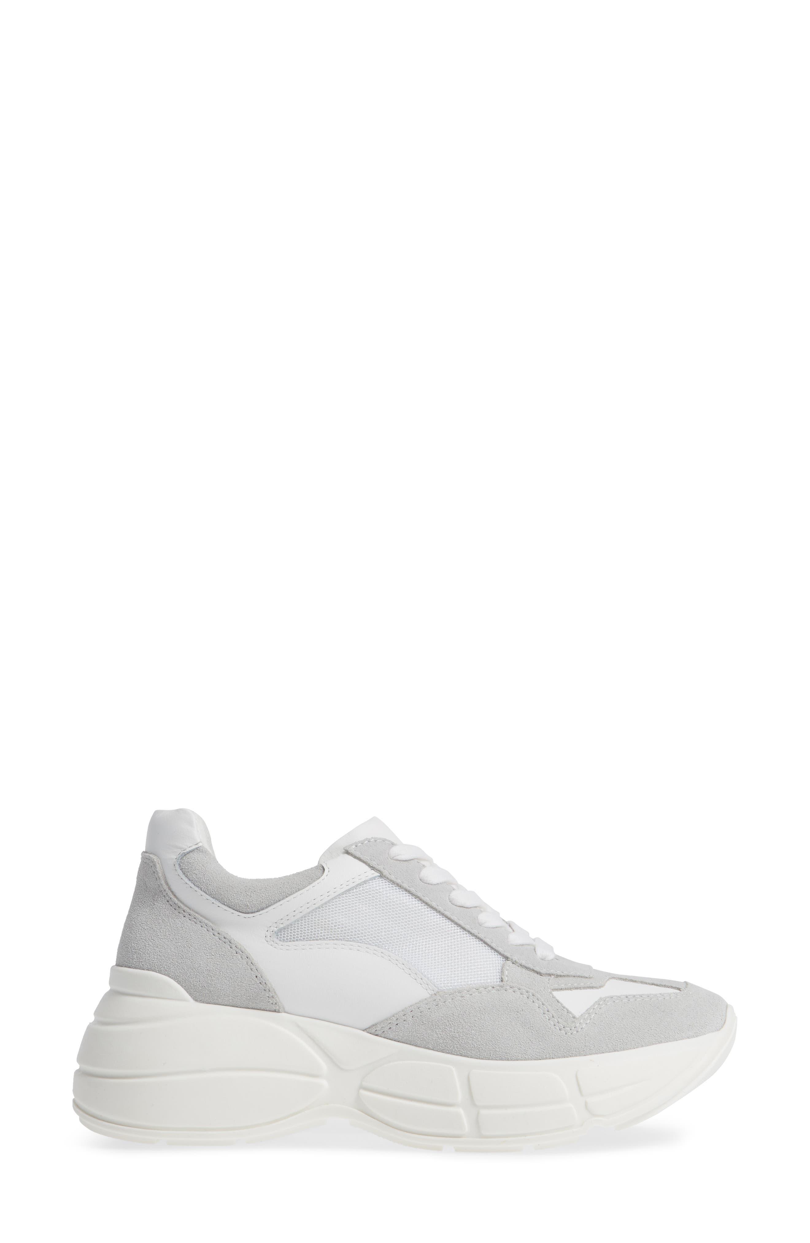 Memory Platform Wedge Sneaker,                             Alternate thumbnail 3, color,                             WHITE MULTI