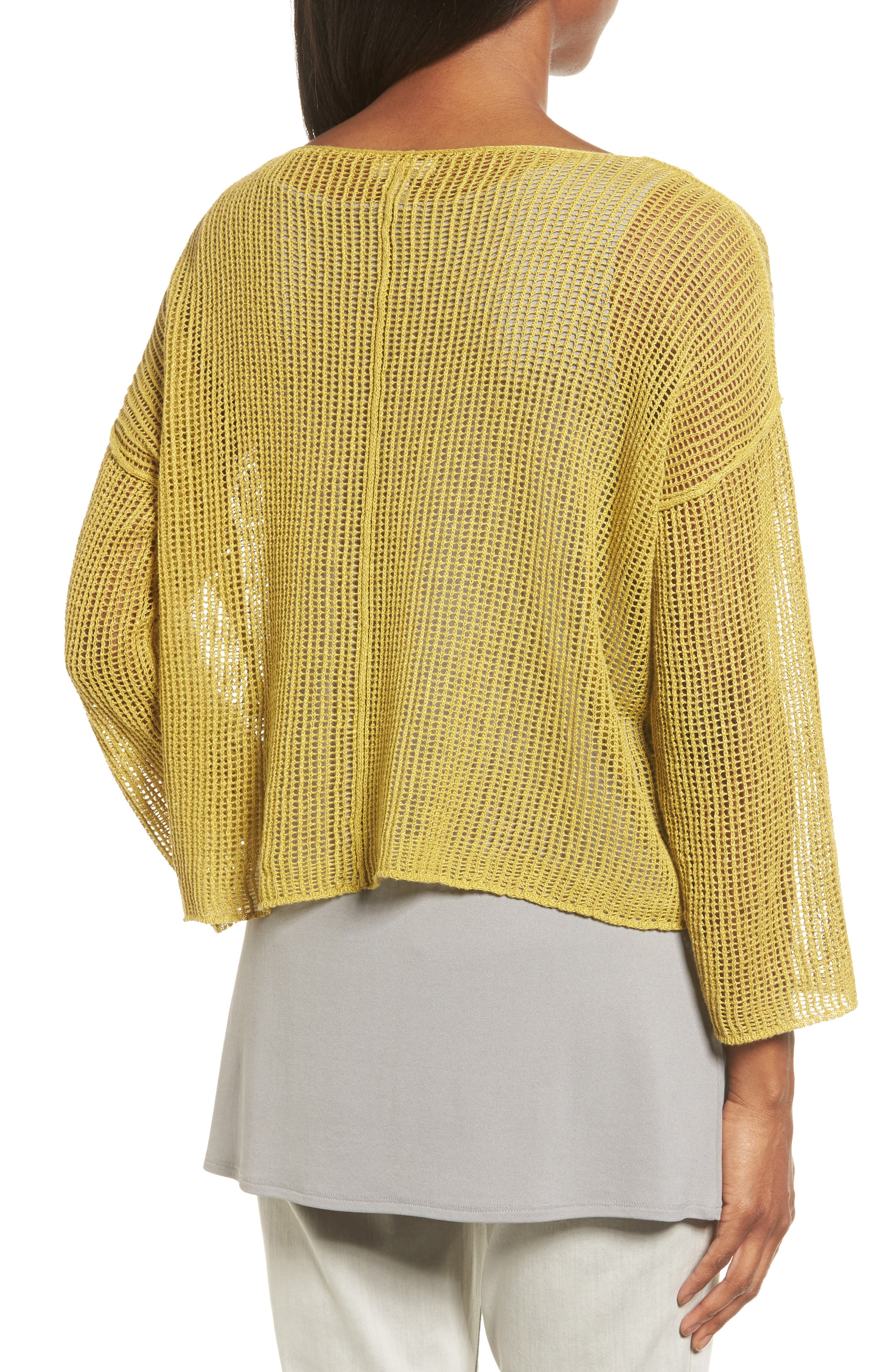 Organic Linen Crop Sweater,                             Alternate thumbnail 9, color,