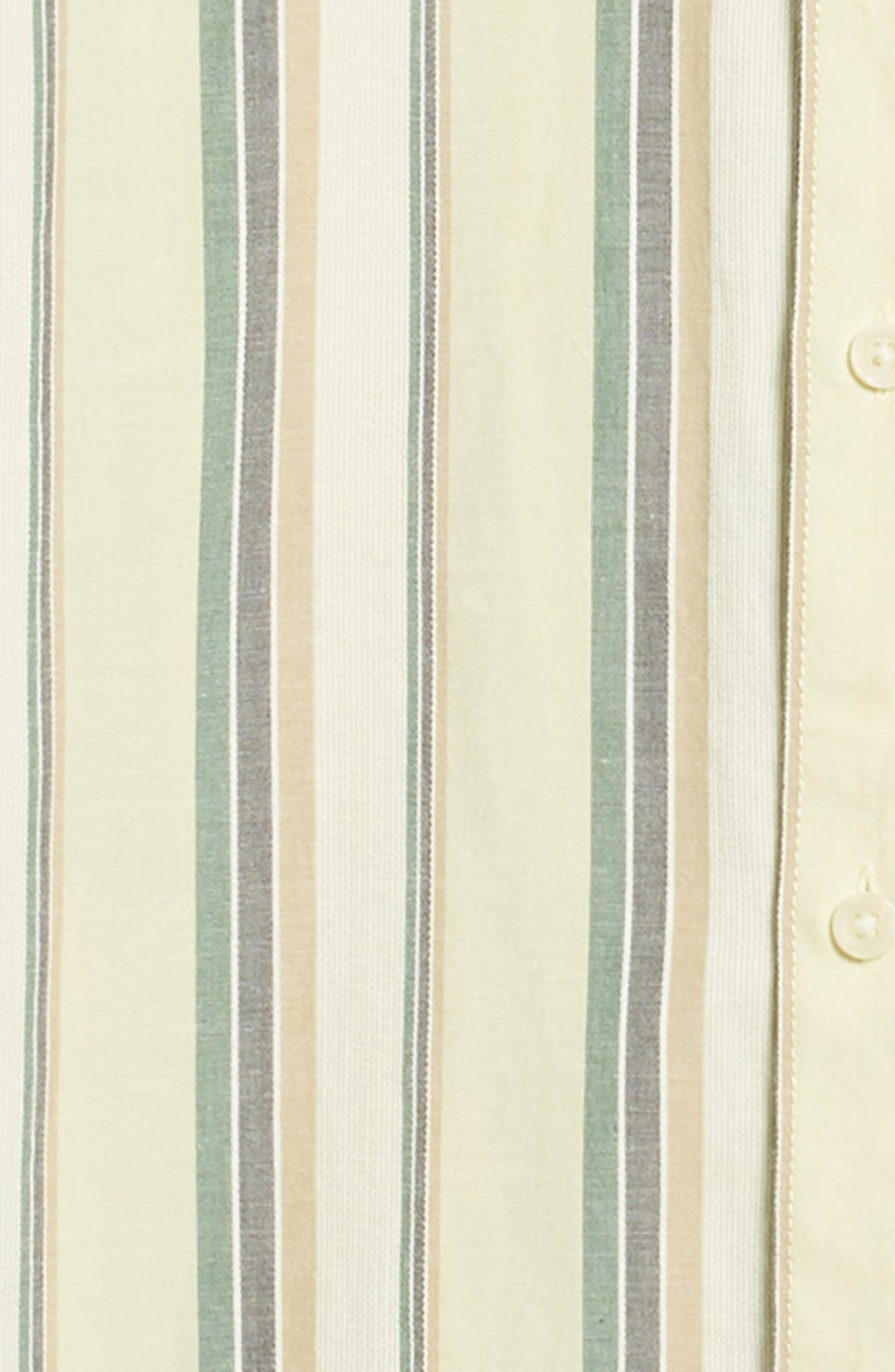 Multitone Stripe Woven Shirt,                             Alternate thumbnail 6, color,                             SAGE