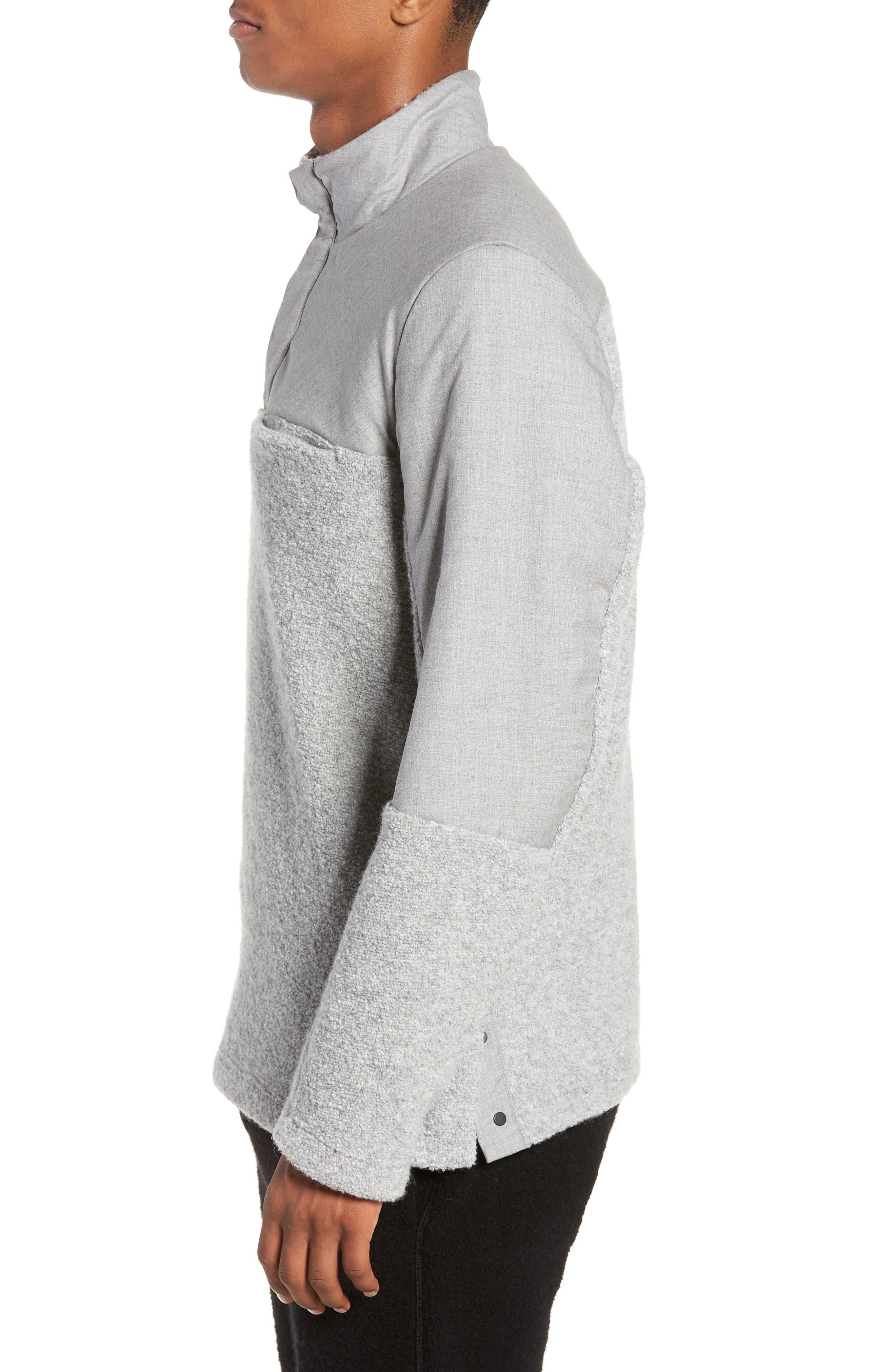 Tactical Fleece Pullover,                             Alternate thumbnail 3, color,                             HEATHER GREY