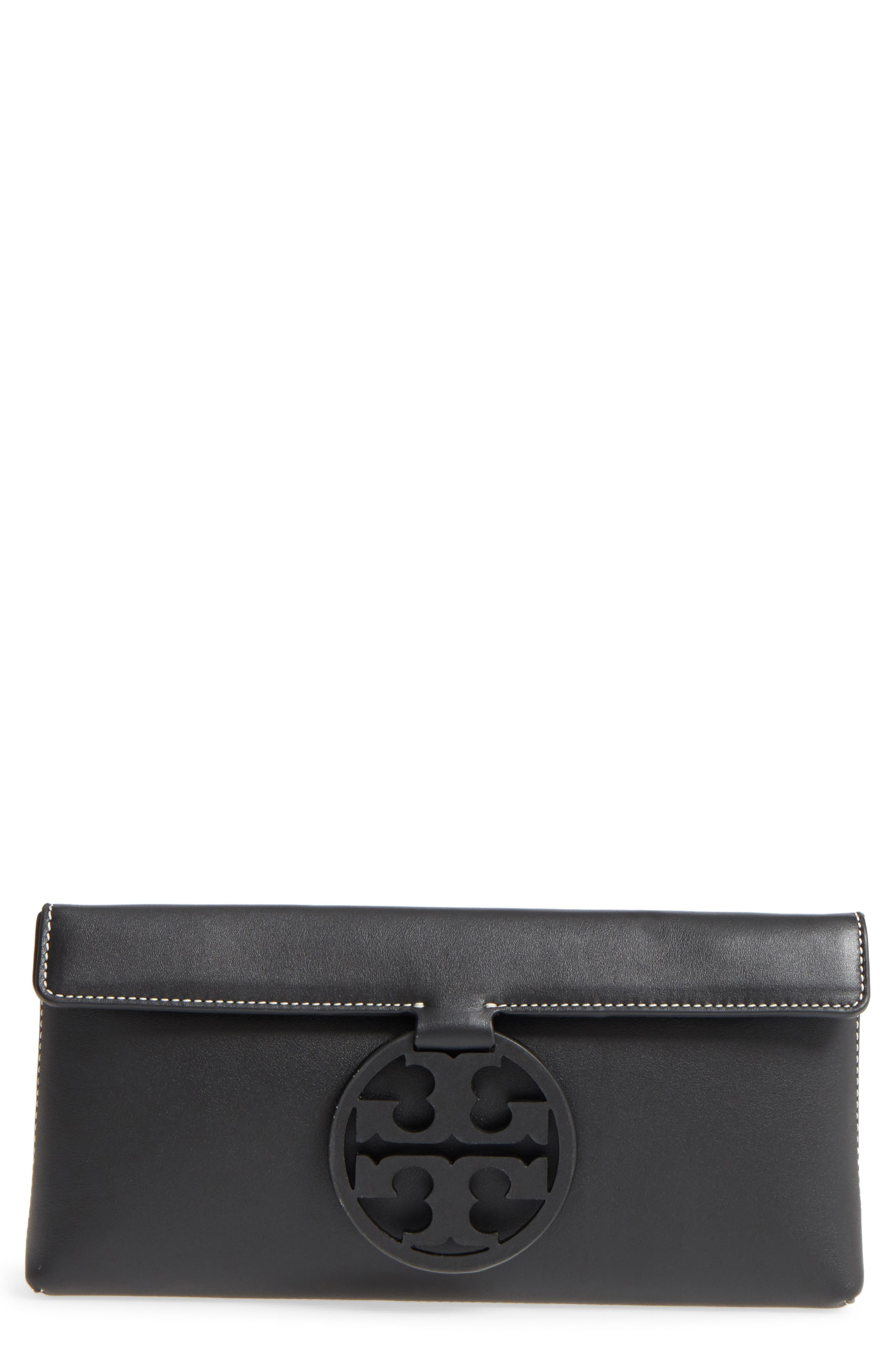 Miller Leather Clutch,                         Main,                         color, 001