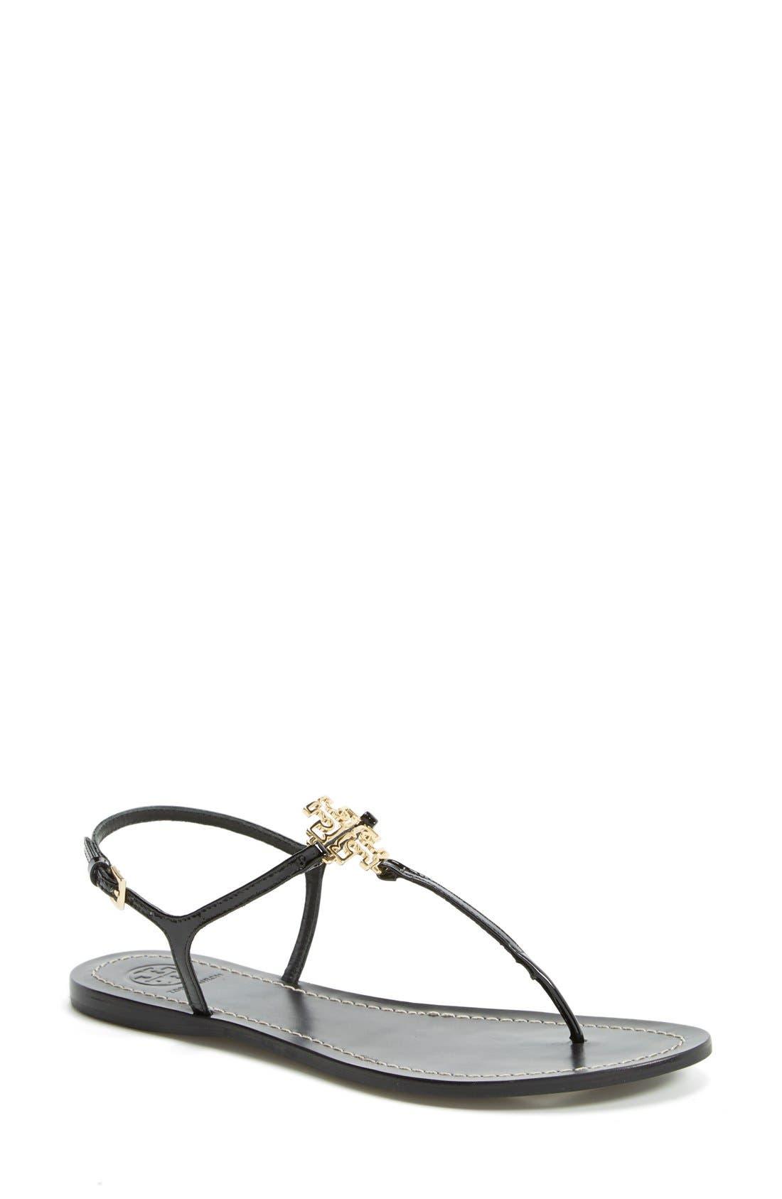 TORY BURCH 'Melinda' Flat Sandal, Main, color, 001