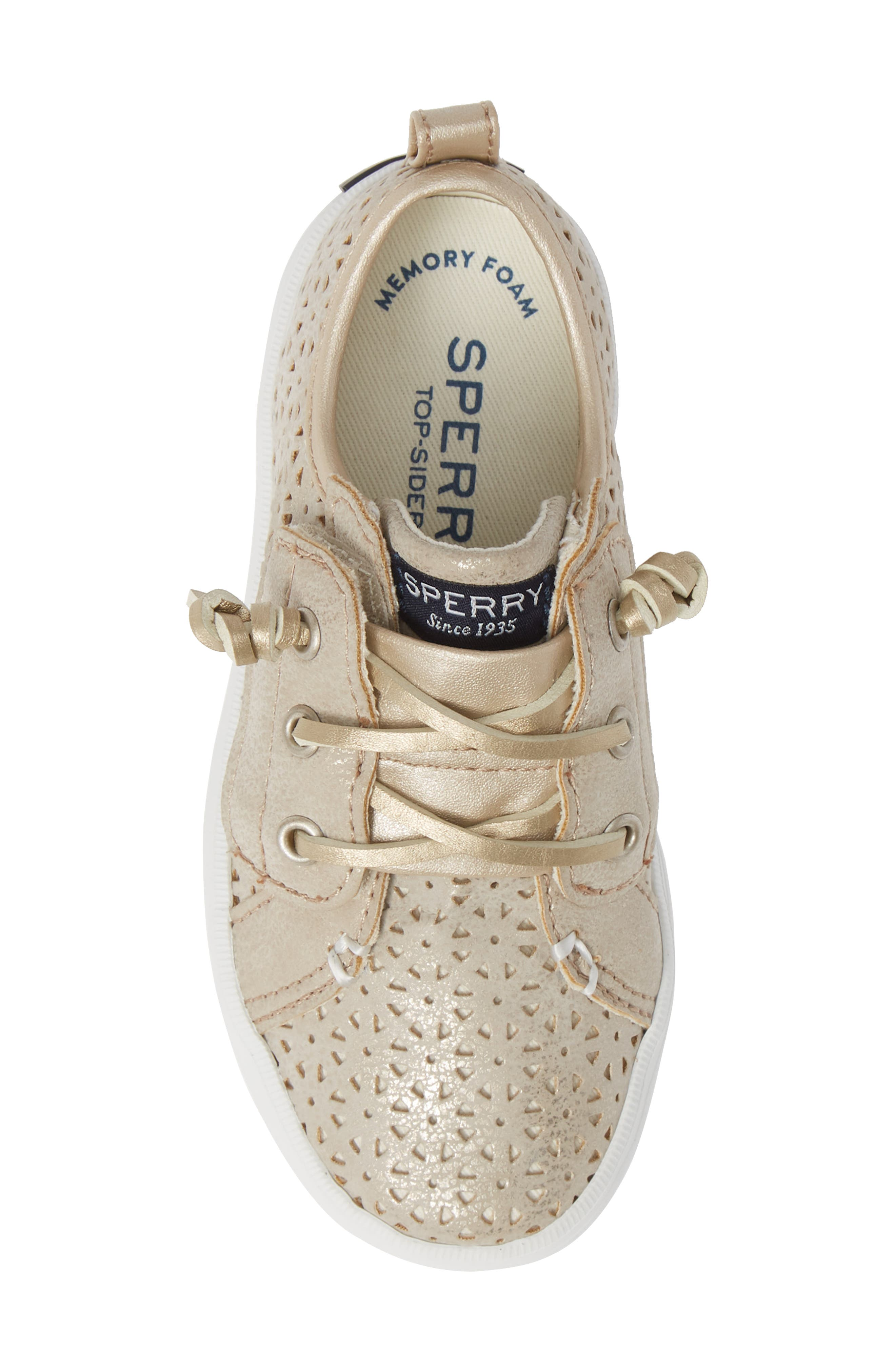 Sperry Crest Vibe Sneaker,                             Alternate thumbnail 5, color,                             CHAMPAGNE SYNTHETIC