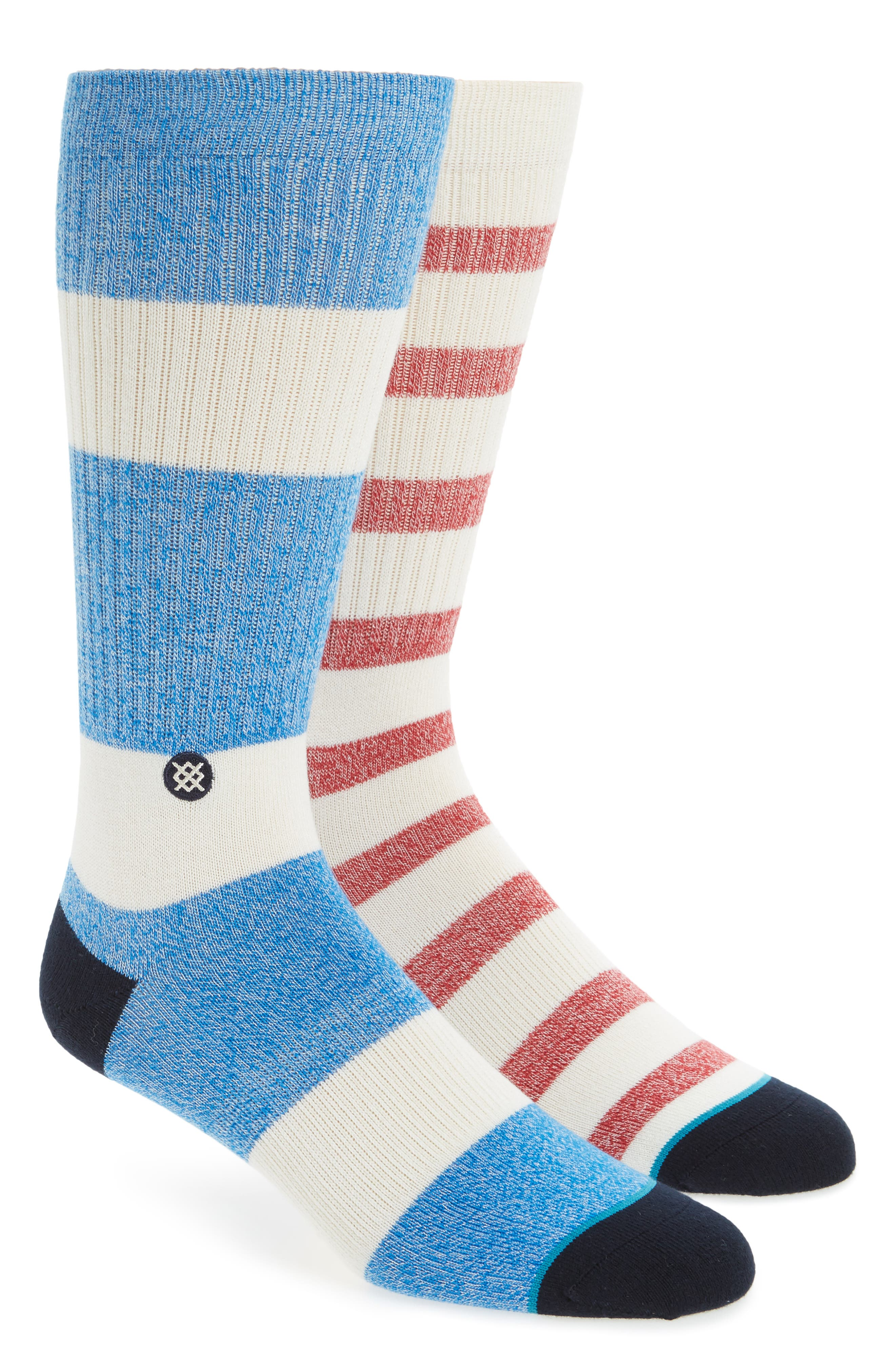 Starboard Mismatched Crew Socks,                             Main thumbnail 1, color,