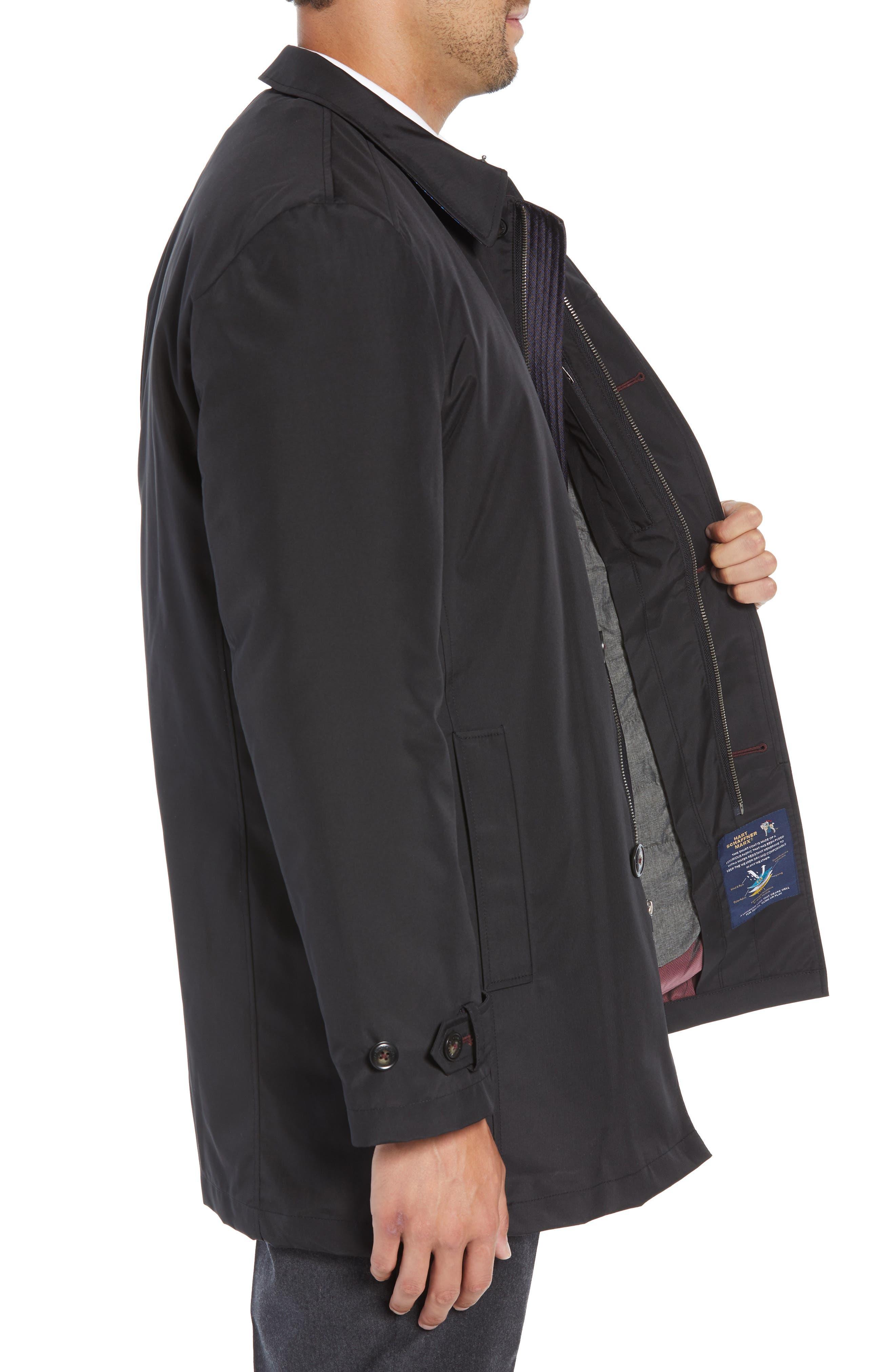 Rain-Down Rain Coat,                             Alternate thumbnail 3, color,                             BLACK