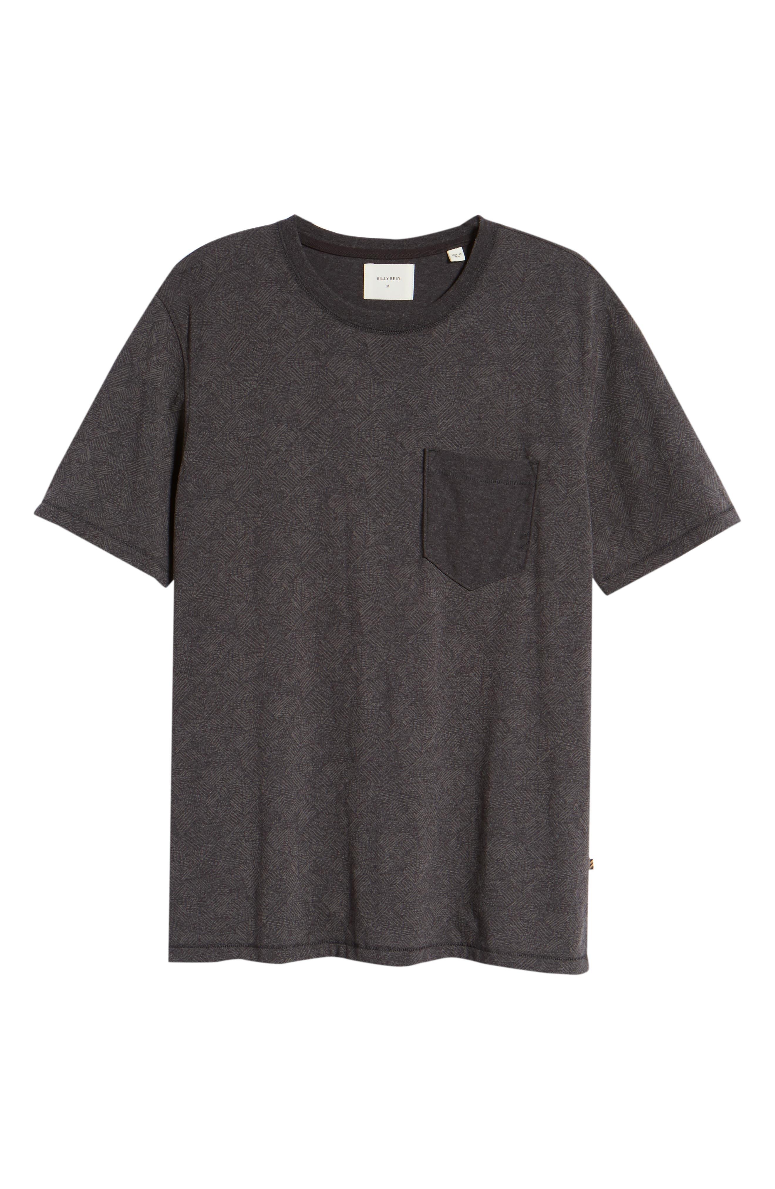 Field Line Crewneck T-Shirt,                             Alternate thumbnail 6, color,                             FIELD LINE
