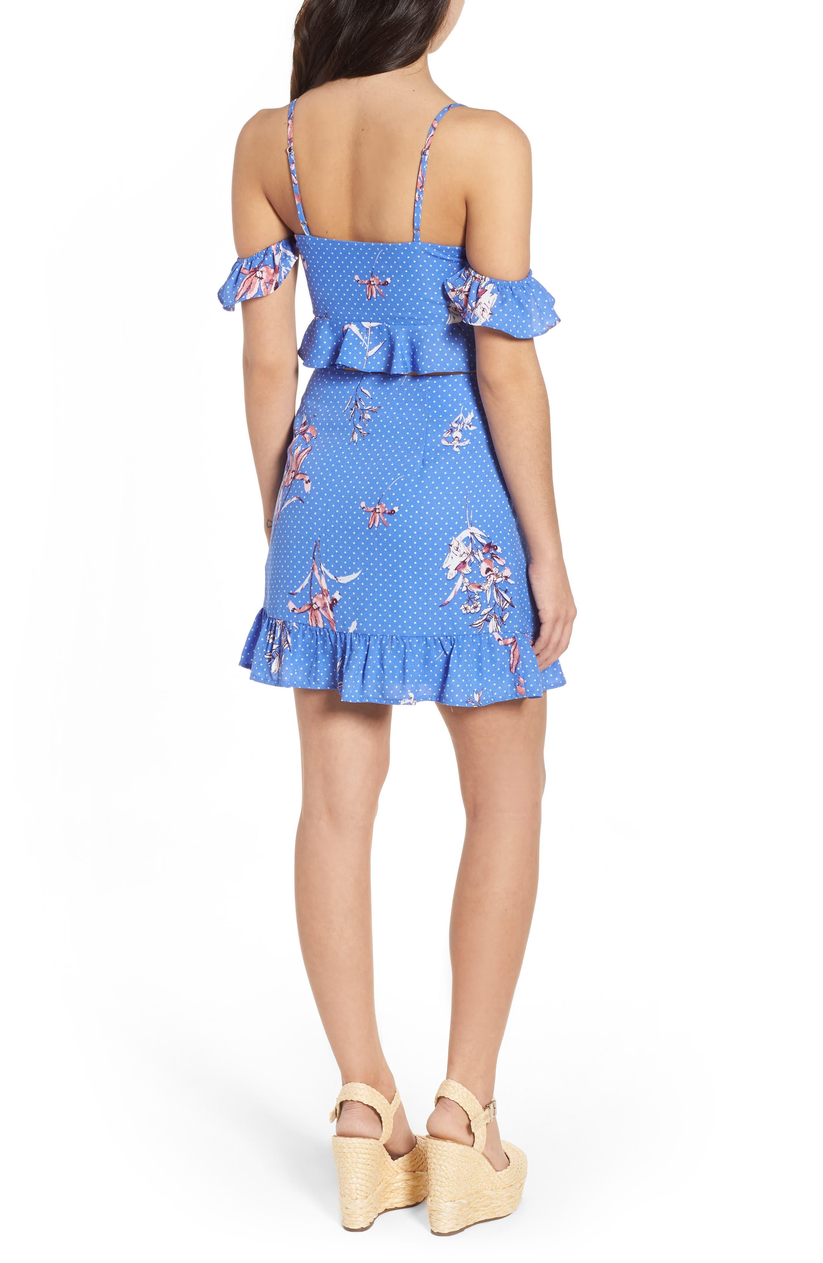 Vanessa Ruffle Hem Skirt,                             Alternate thumbnail 8, color,                             430