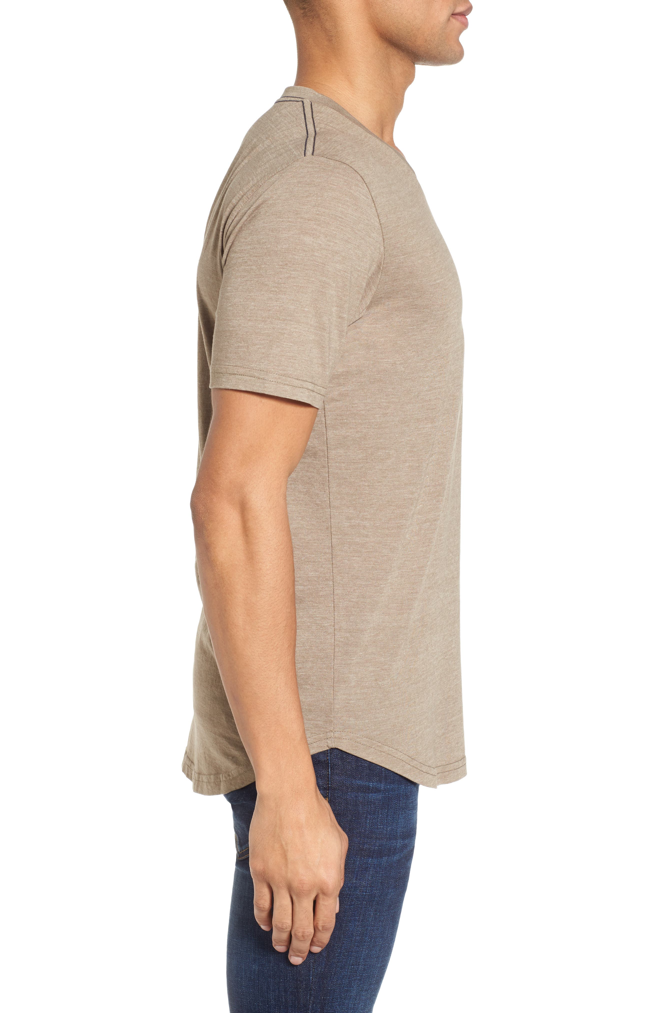 Scallop Triblend V-Neck T-Shirt,                             Alternate thumbnail 48, color,