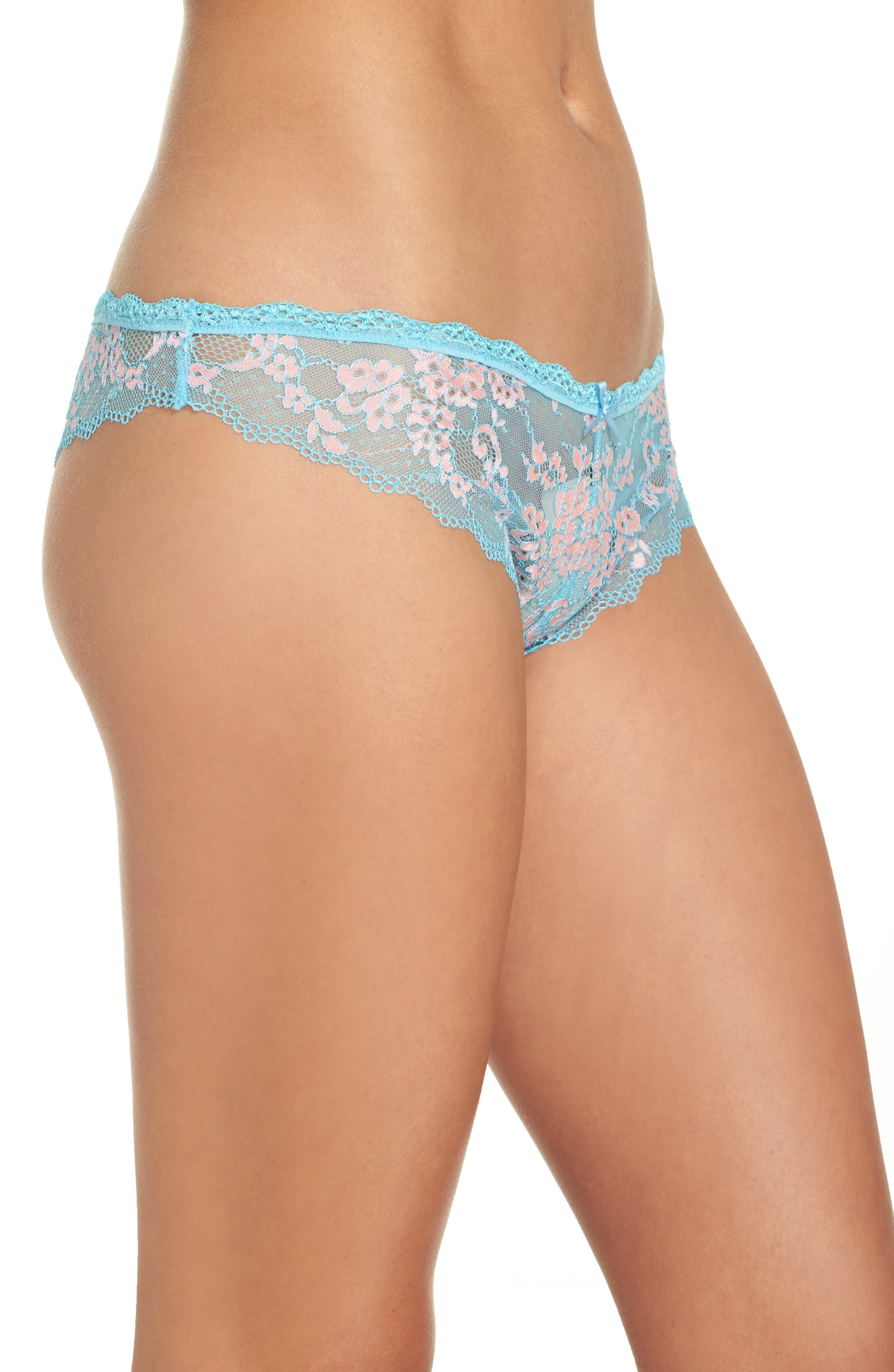 Camellia Lace Thong,                             Alternate thumbnail 3, color,                             405