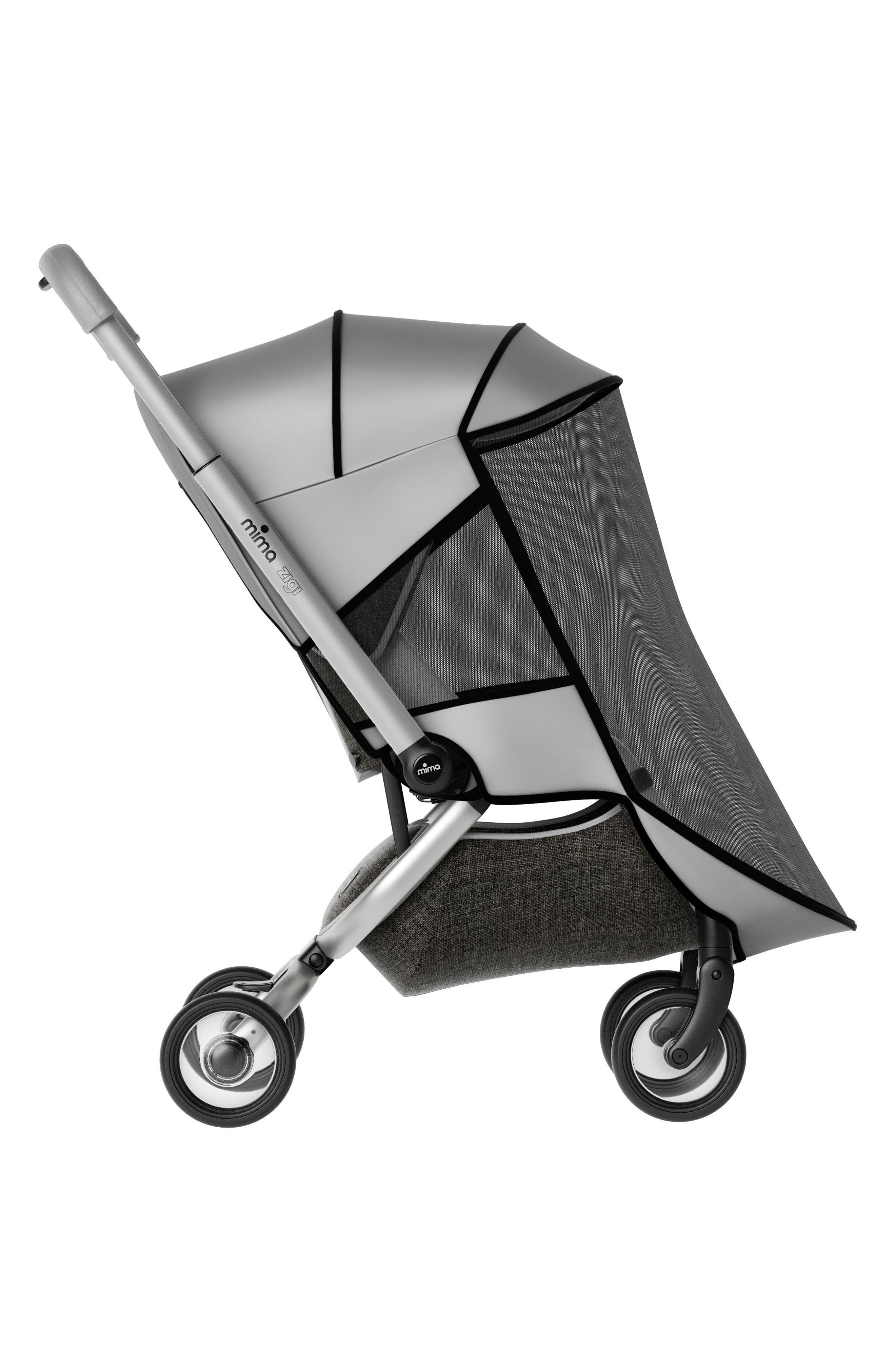 MIMA,                             Mosquito Net for Zigi Travel Stroller,                             Main thumbnail 1, color,                             SILVER