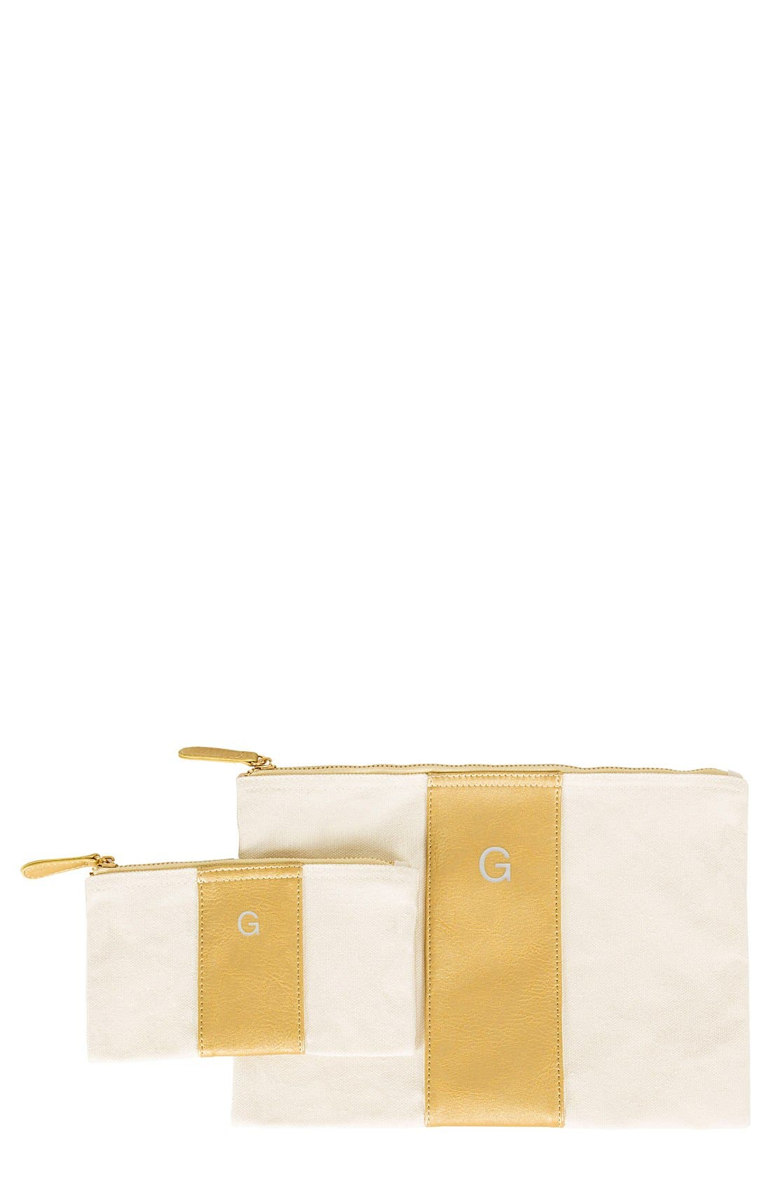 Personalized Faux Leather Clutch,                             Main thumbnail 45, color,