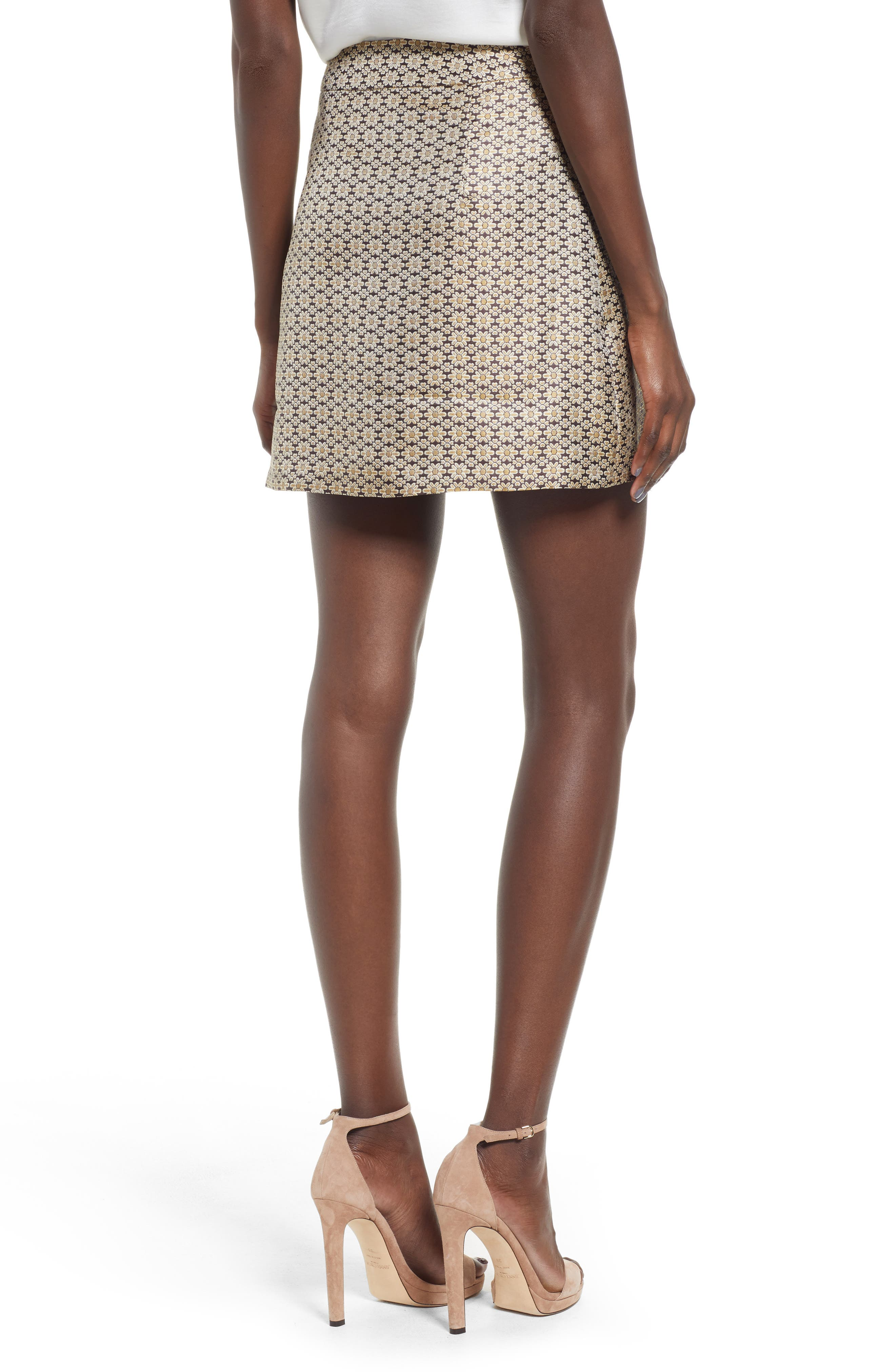 Pelham Button Front Miniskirt,                             Alternate thumbnail 3, color,                             710