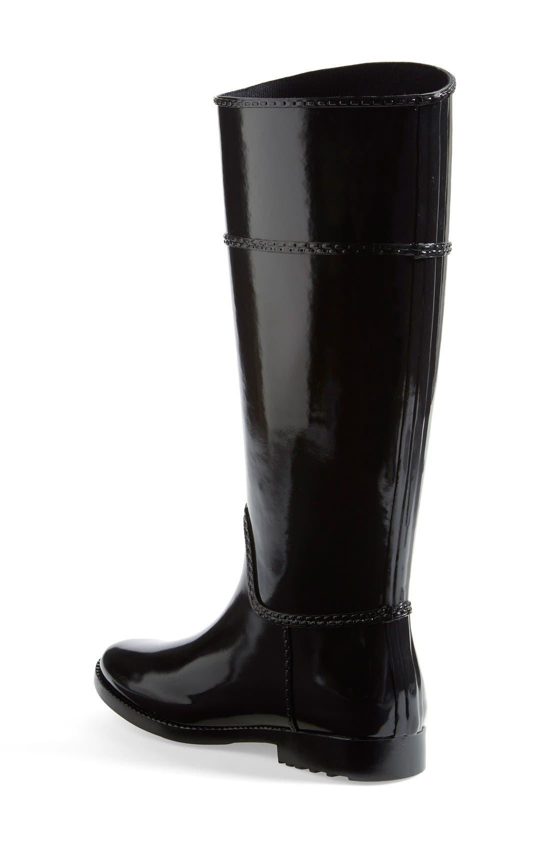 MICHAEL MICHAEL KORS,                             'Stockard' Rain Boot,                             Alternate thumbnail 3, color,                             001