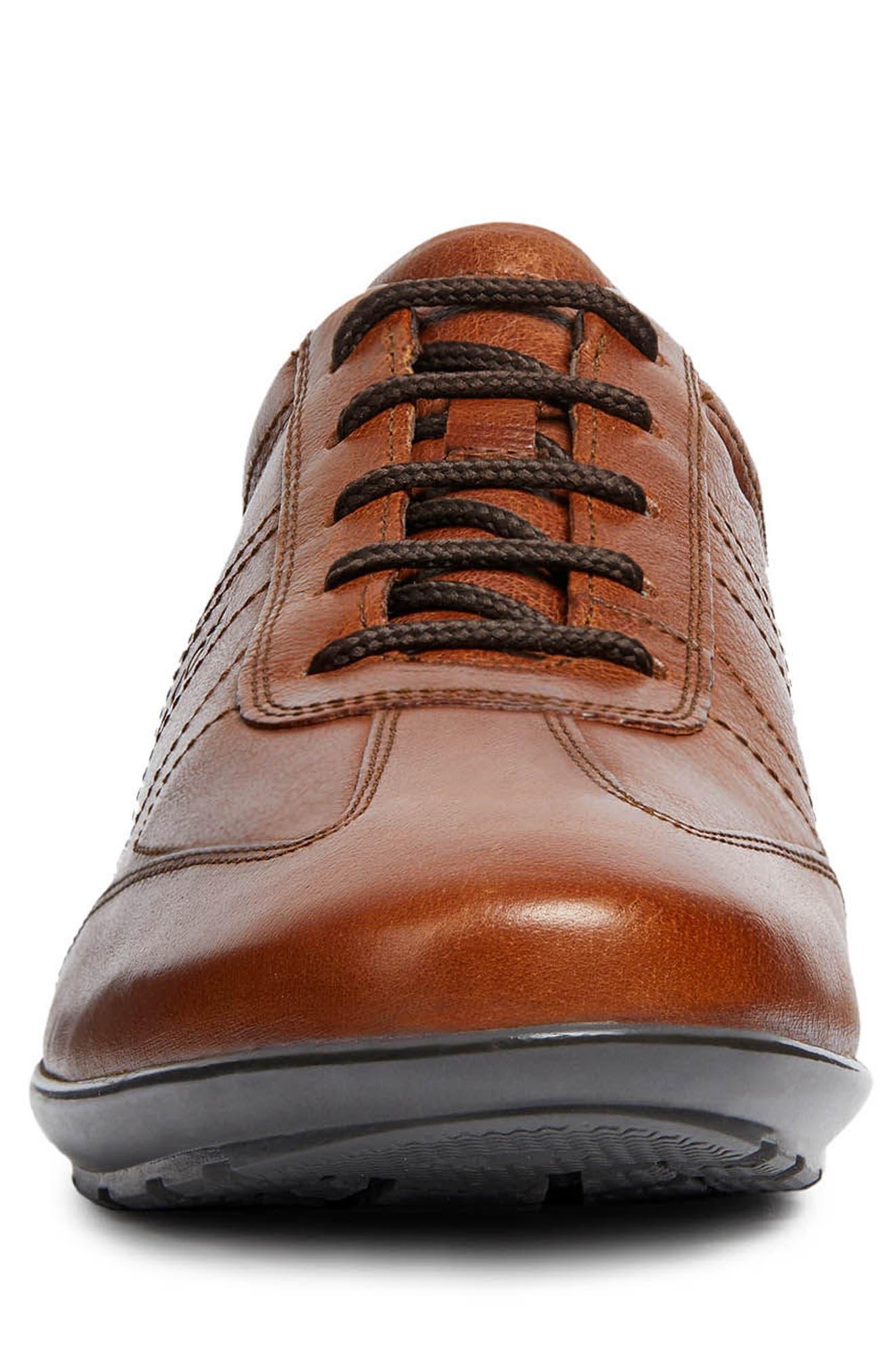 Symbol 25 Euro Sneaker,                             Alternate thumbnail 4, color,                             BROWN LEATHER