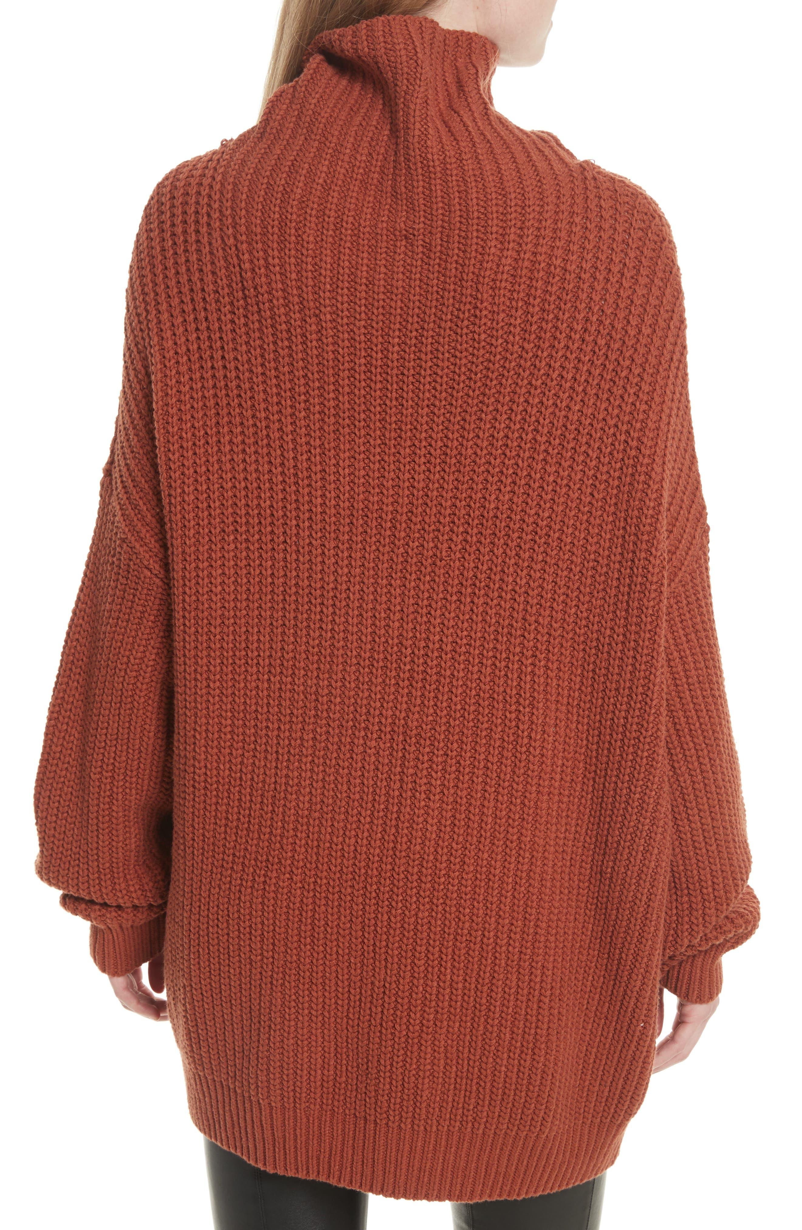 Swim Too Deep Turtleneck Sweater,                             Alternate thumbnail 7, color,