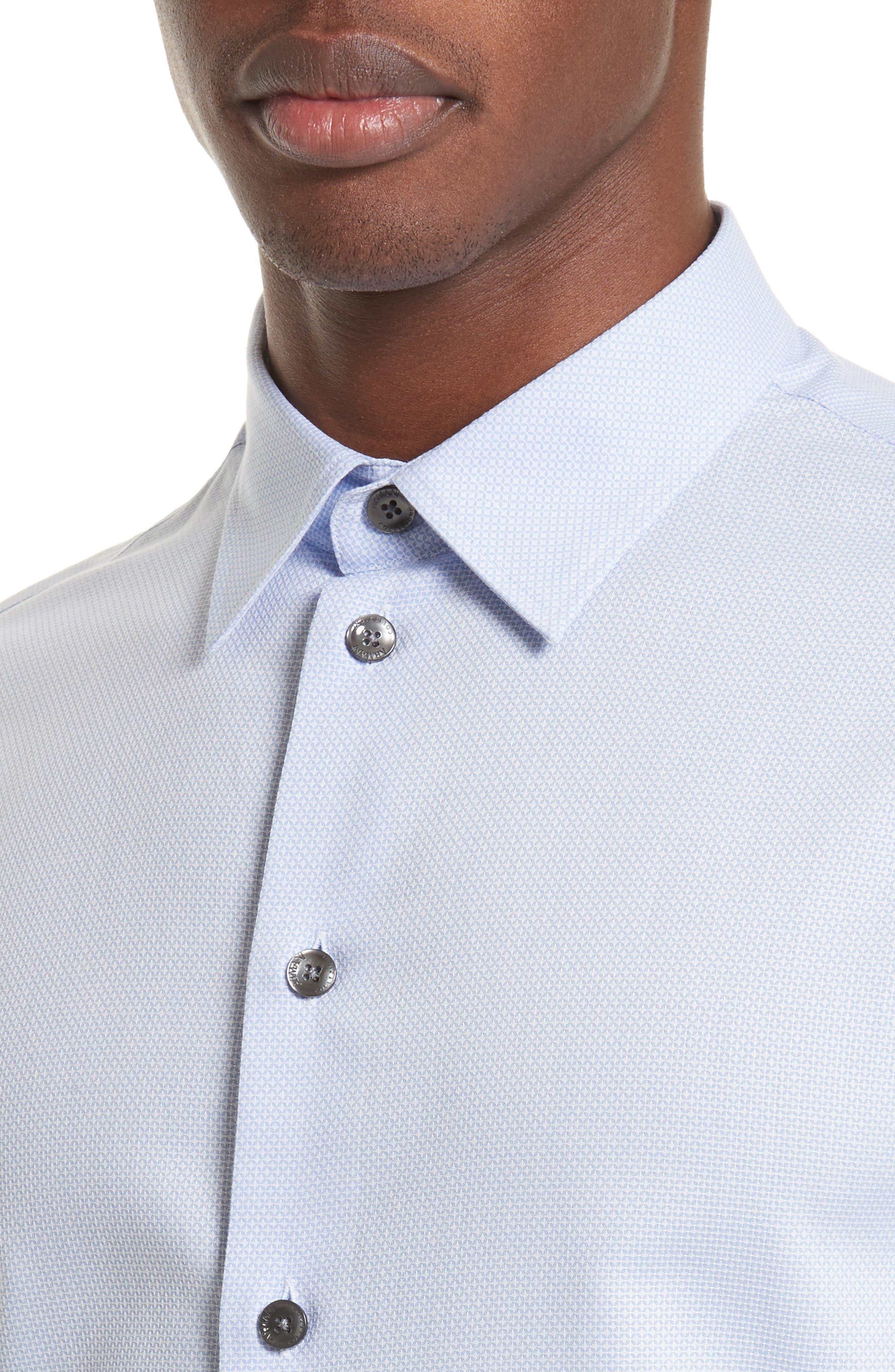 Geometric Neat Jacquard Sport Shirt,                             Alternate thumbnail 4, color,                             491