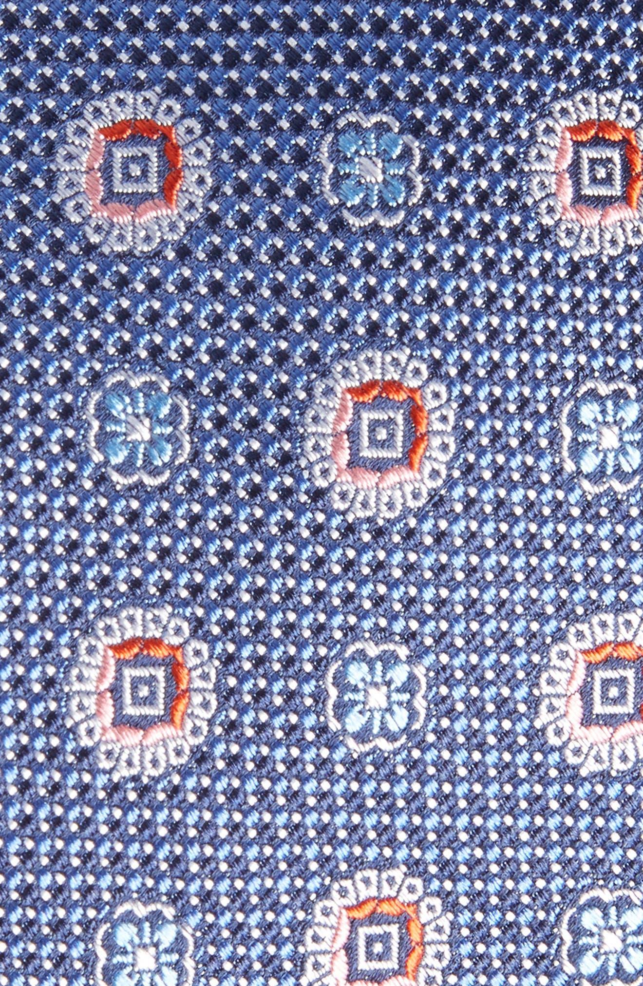 Rurwin Medallion Silk Tie,                             Alternate thumbnail 2, color,                             NAVY