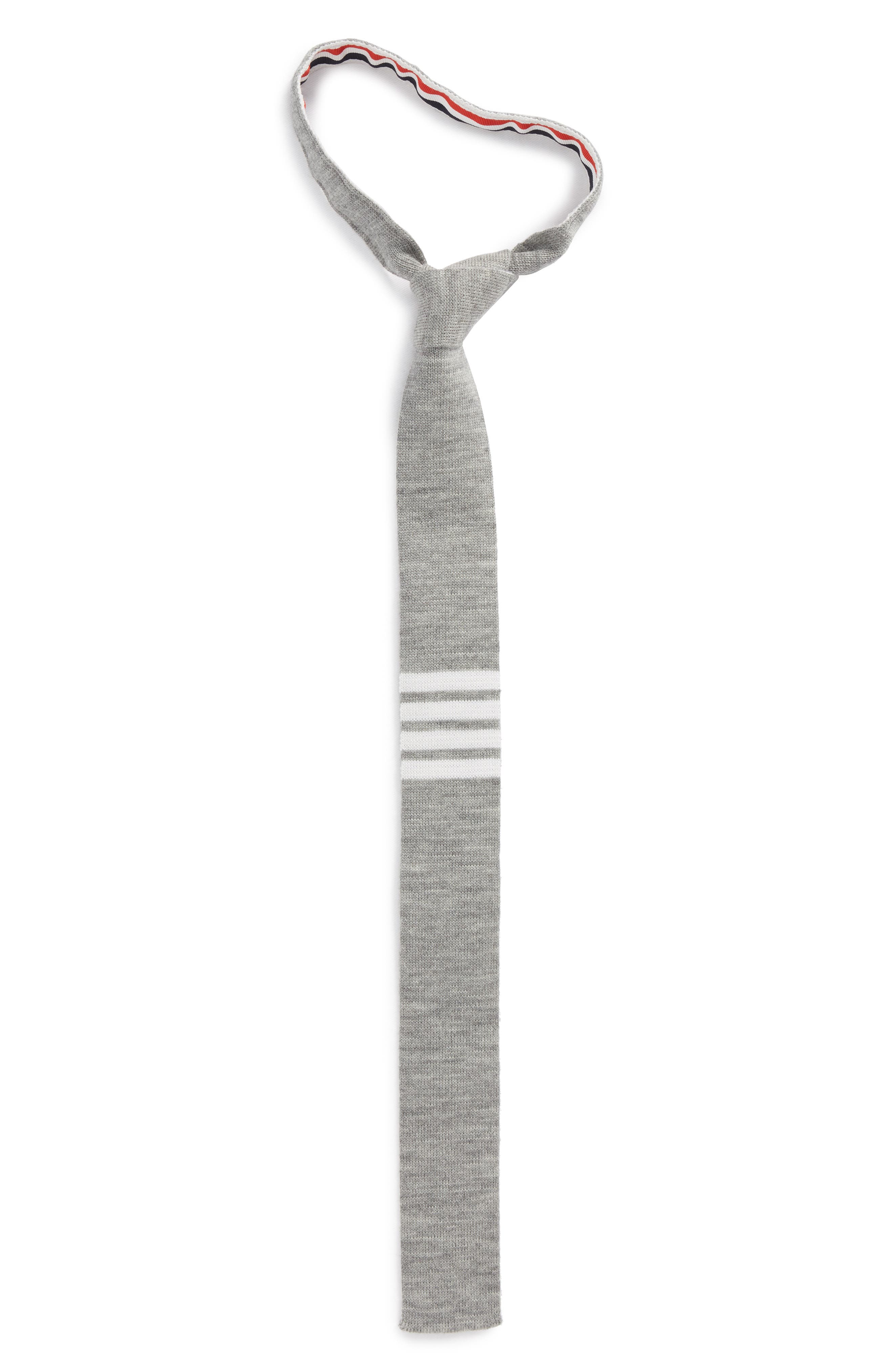 4-Bar Wool Knit Tie,                         Main,                         color, 035
