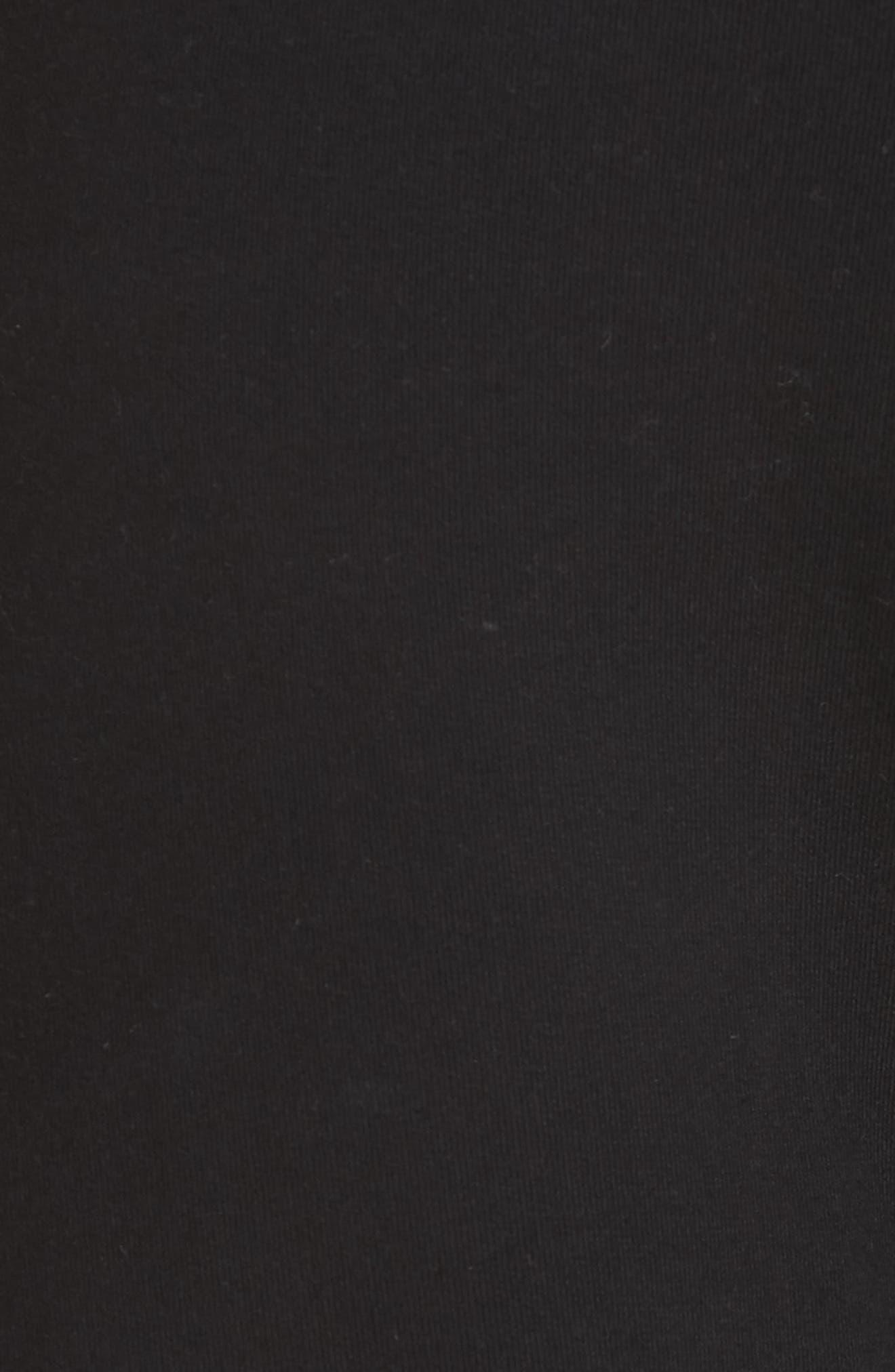 Logo Print Sweatpants,                             Alternate thumbnail 5, color,                             BLACK