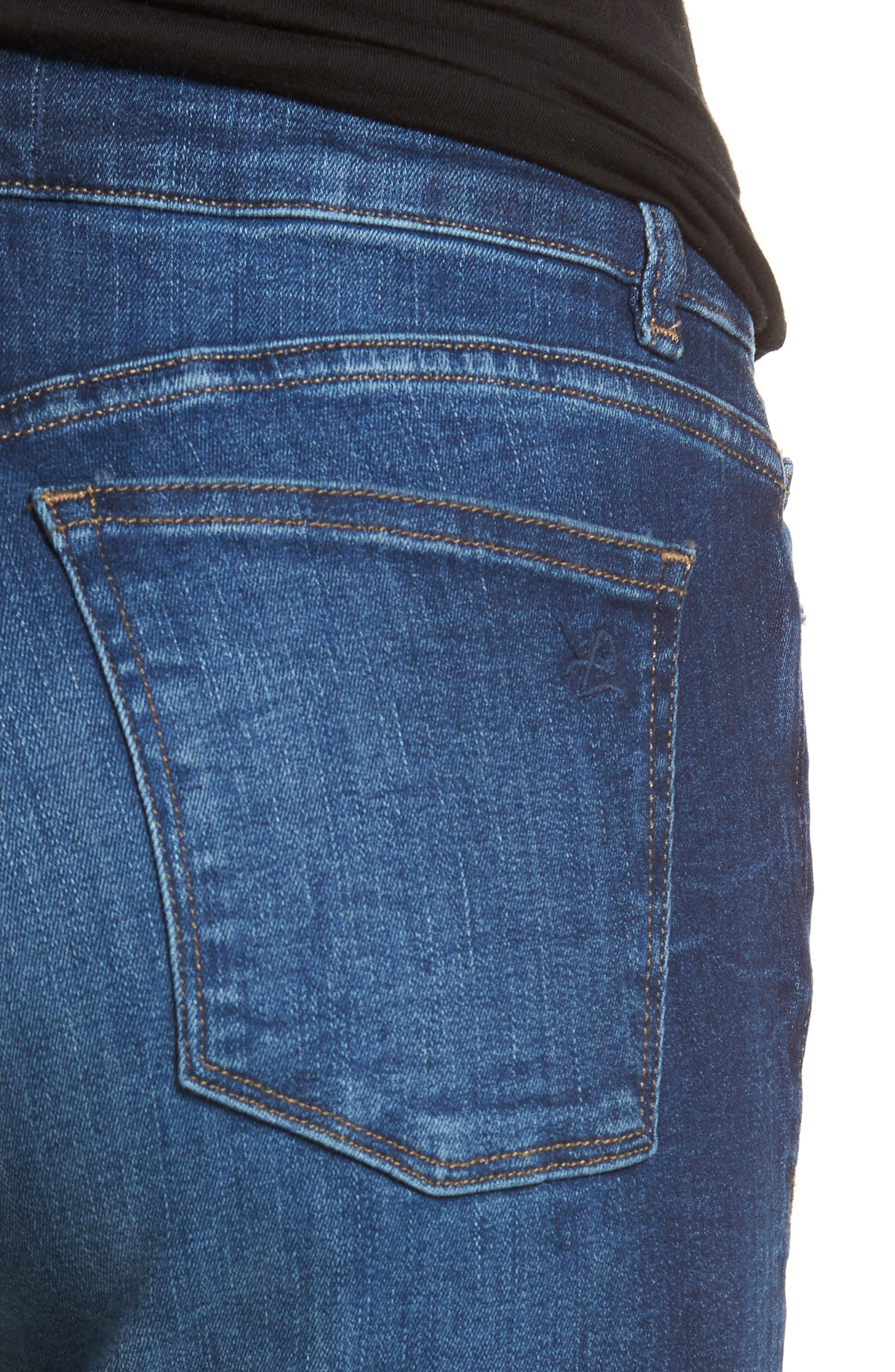 Coco Curvy Slim Straight Leg Jeans,                             Alternate thumbnail 4, color,                             405