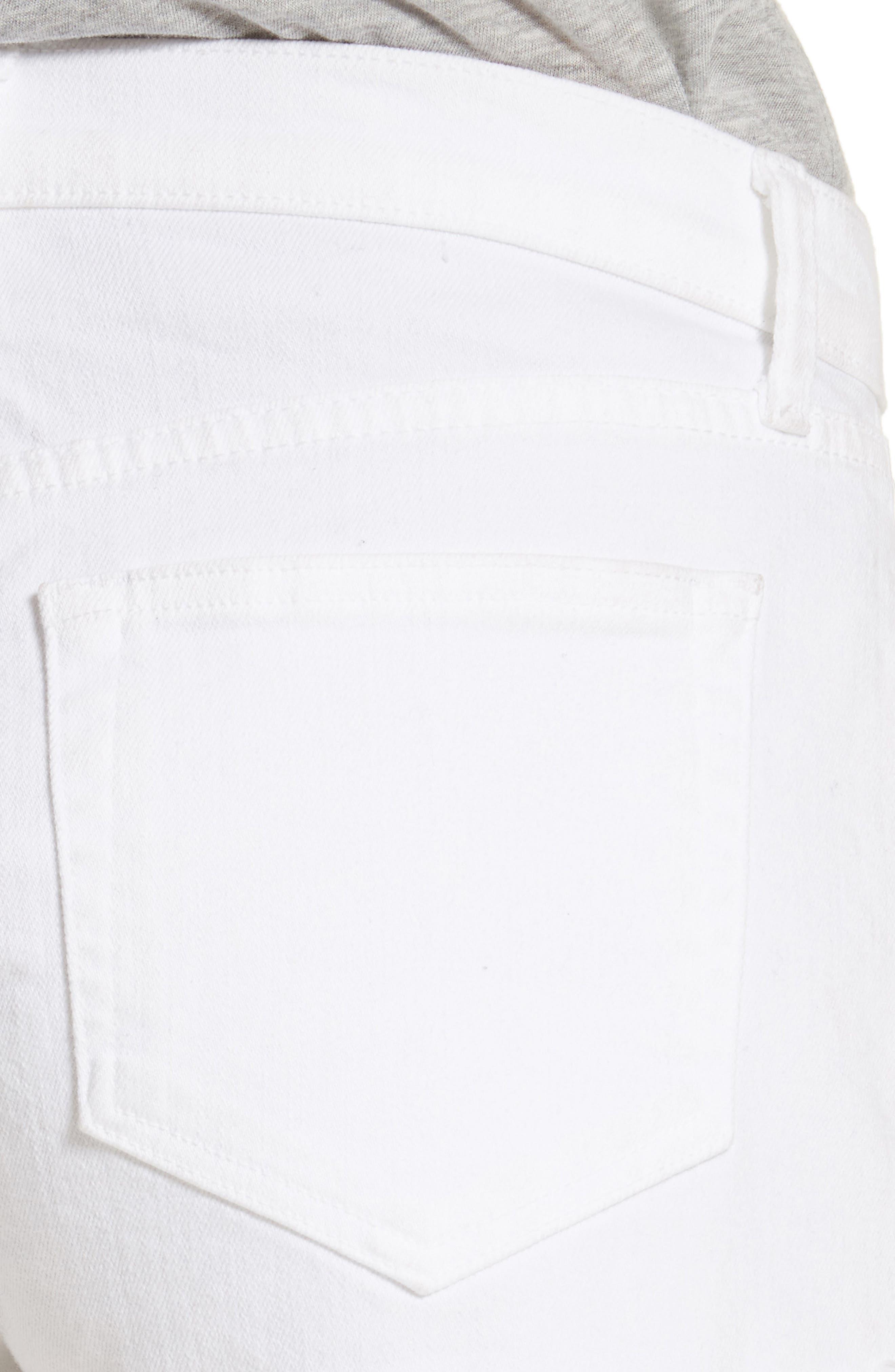 Zoe Cutoff Denim Shorts,                             Alternate thumbnail 4, color,                             100