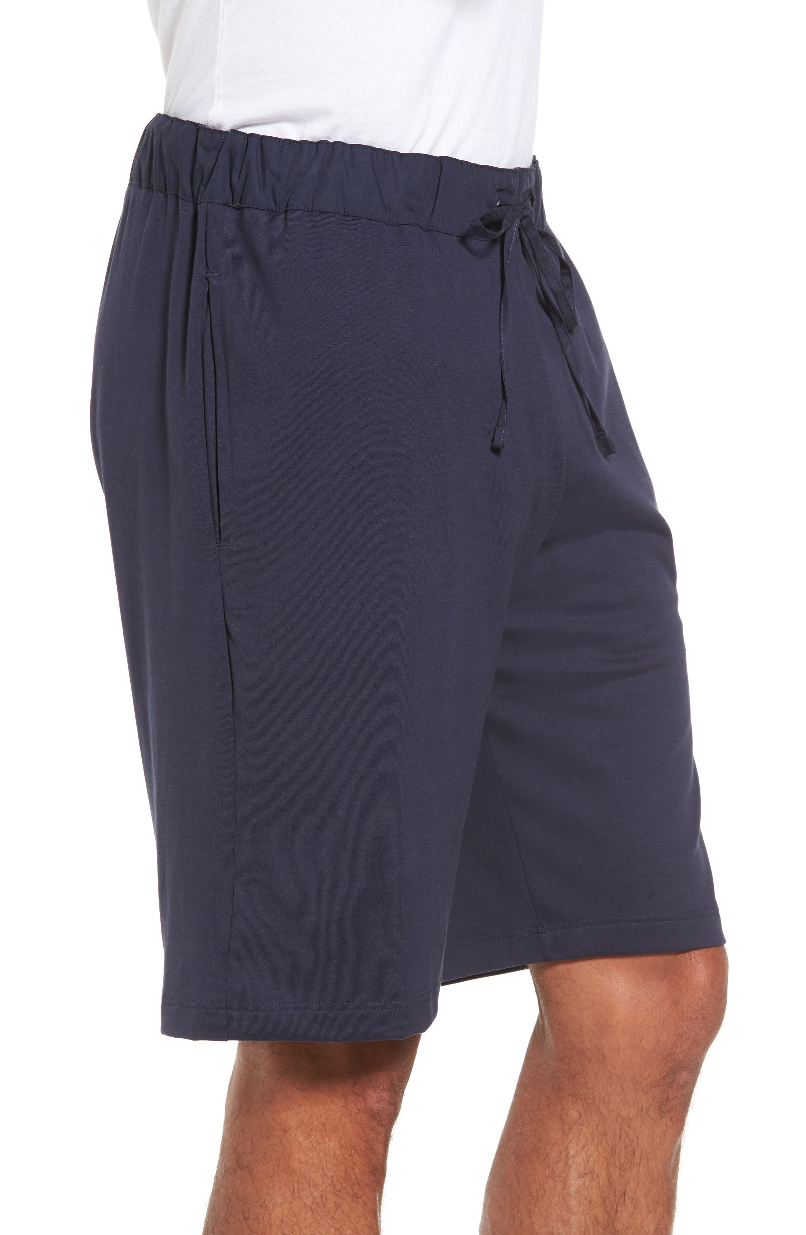 Night & Day Knit Shorts,                             Alternate thumbnail 3, color,                             BLACK IRIS