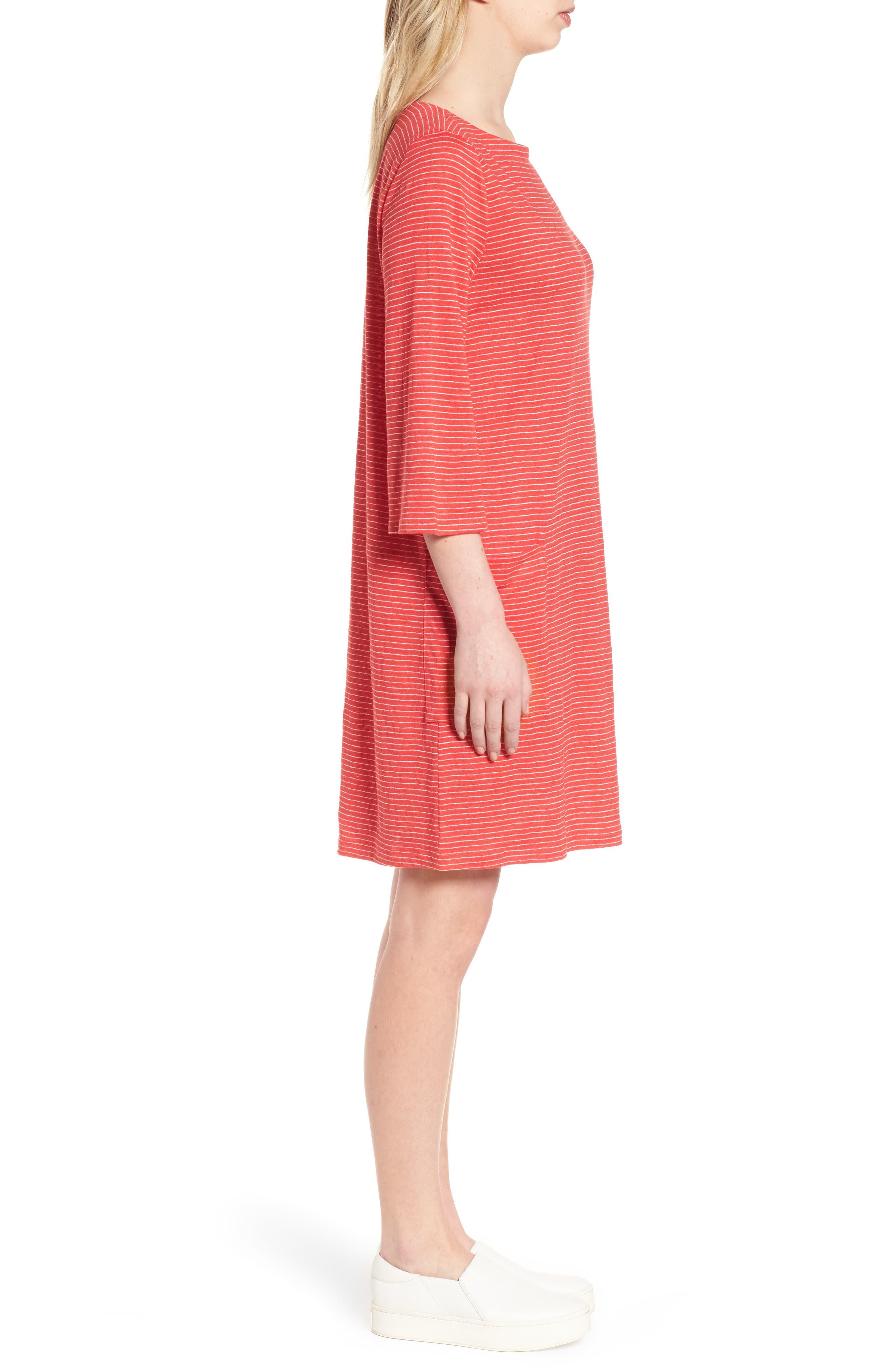 Organic Linen Shift Dress,                             Alternate thumbnail 8, color,