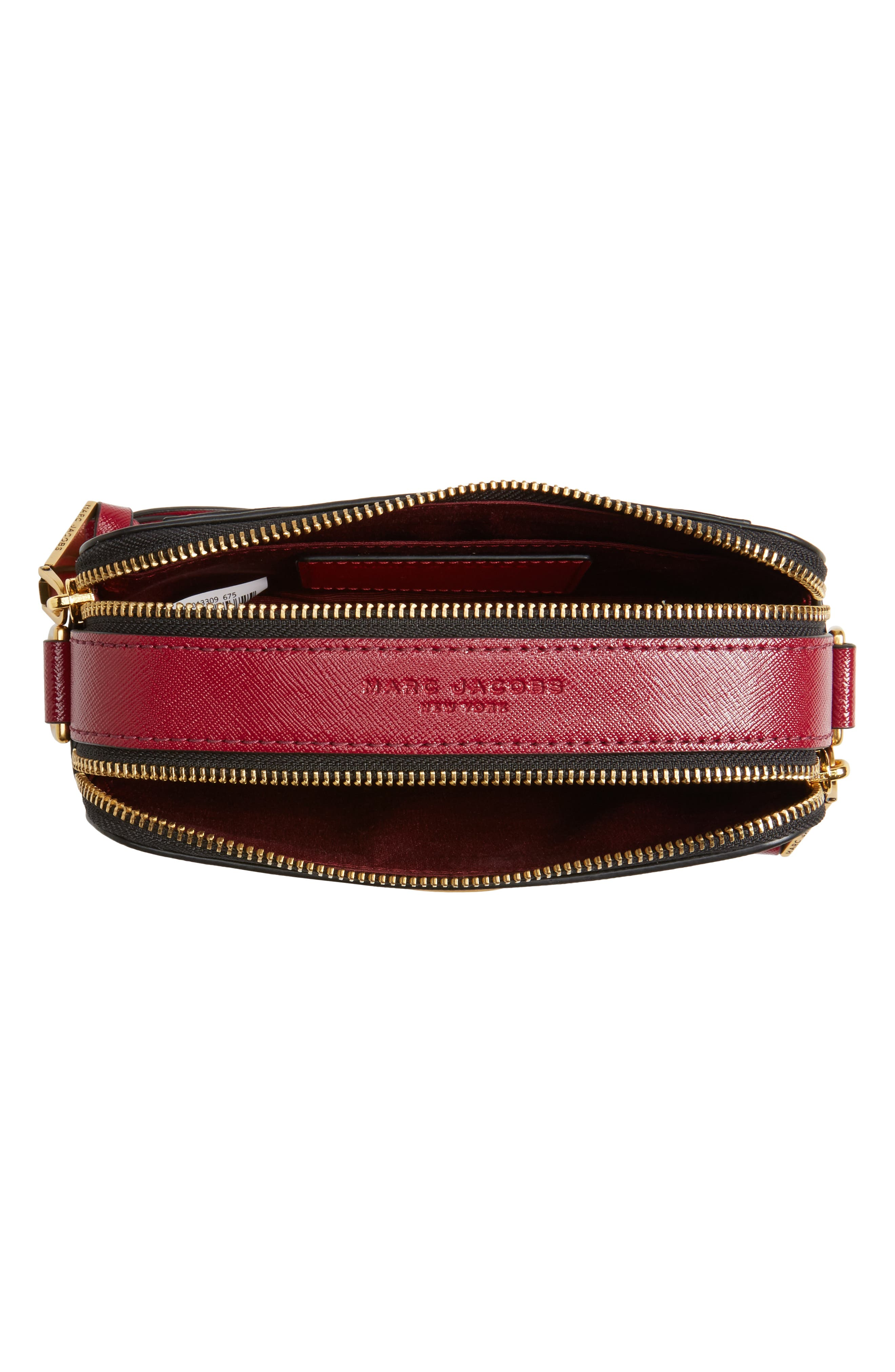 Snapshot Printed Lips Leather Crossbody Bag,                             Alternate thumbnail 4, color,                             675