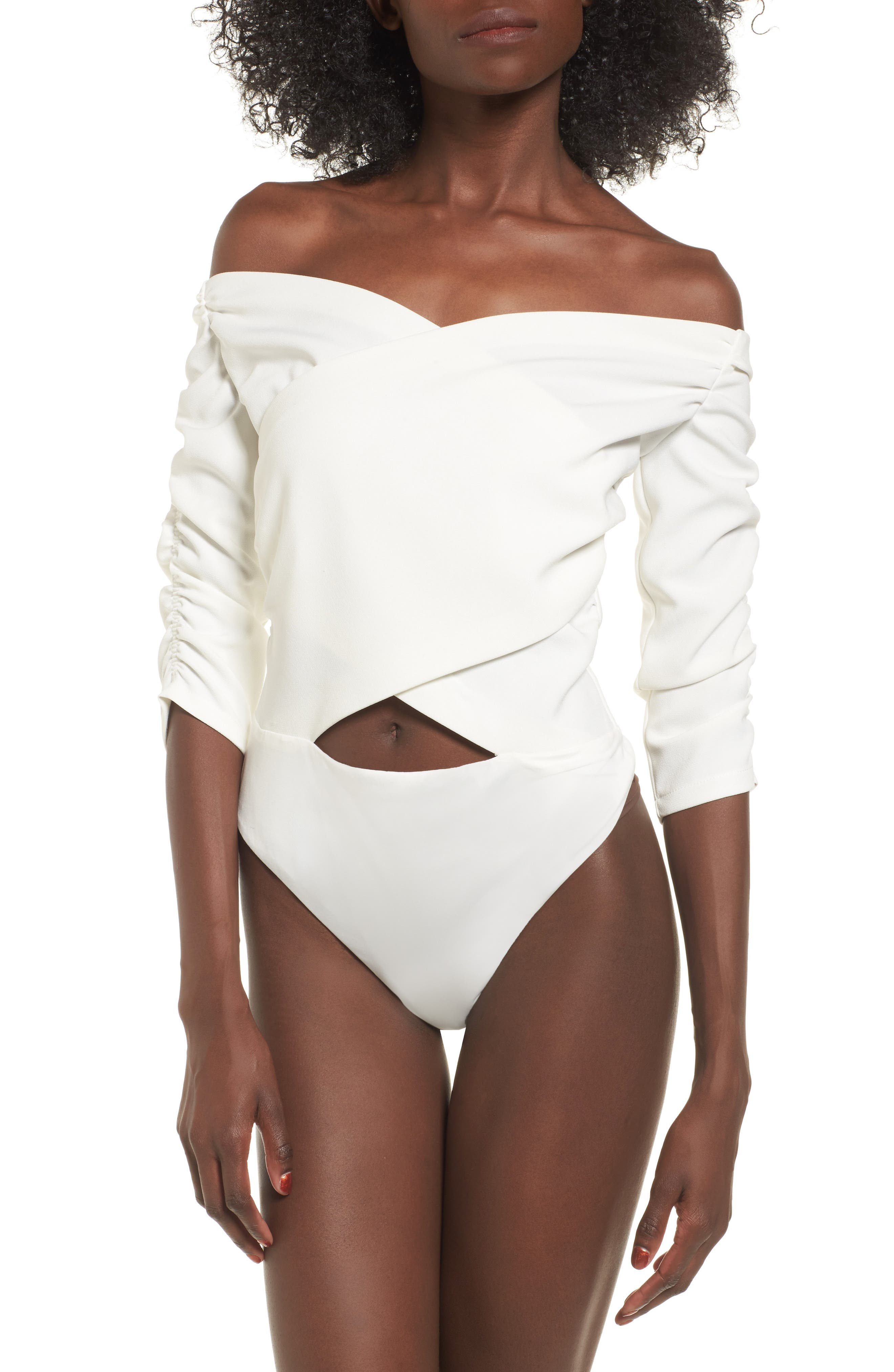 Bryant Off the Shoulder Bodysuit,                             Alternate thumbnail 4, color,