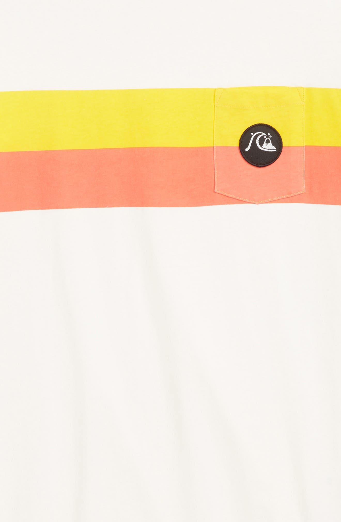 QUIKSILVER,                             Season Stripe Pocket T-Shirt,                             Alternate thumbnail 2, color,                             GARDENIA