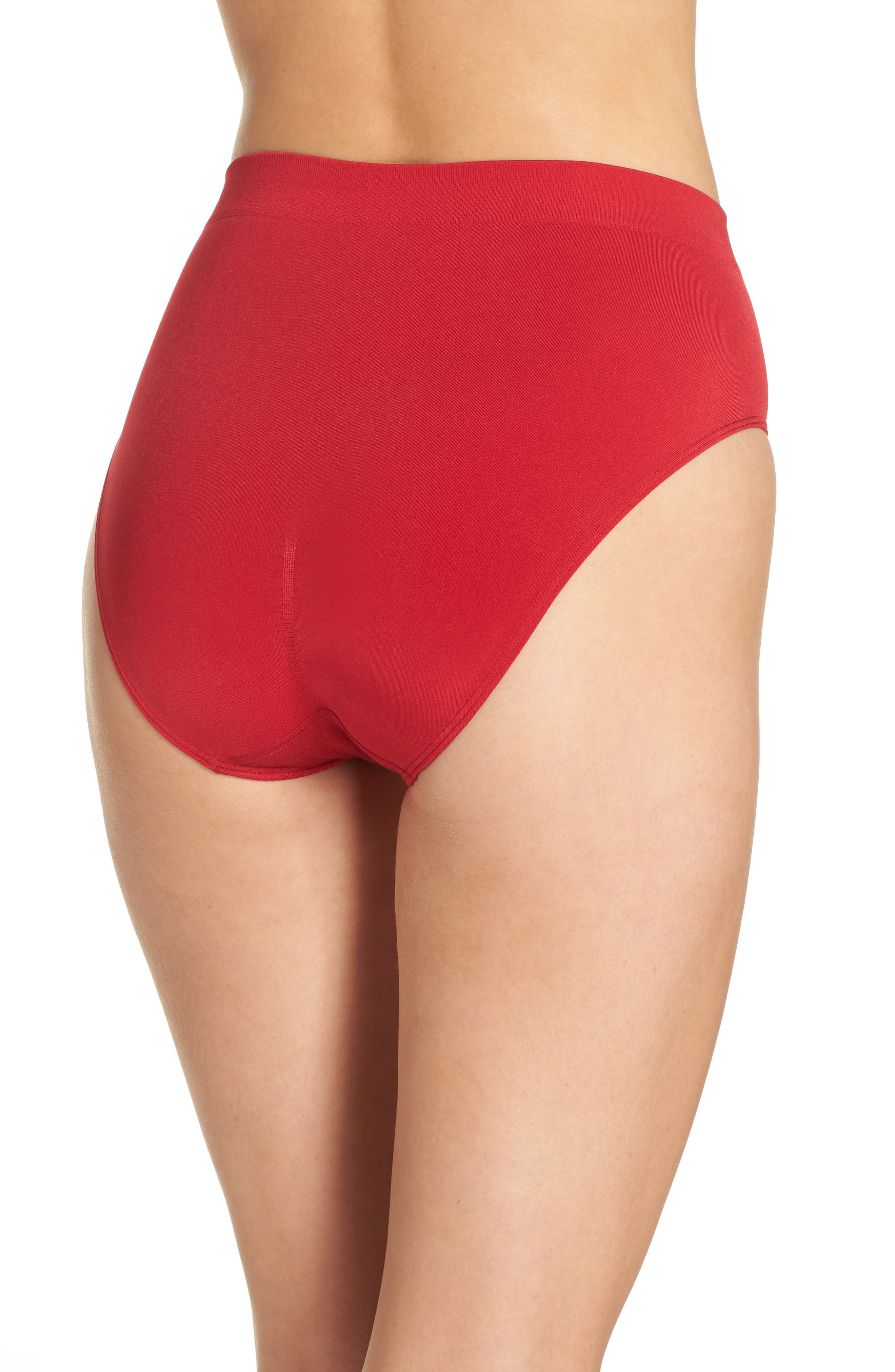 B Smooth High Cut Briefs,                             Alternate thumbnail 2, color,                             JESTER RED
