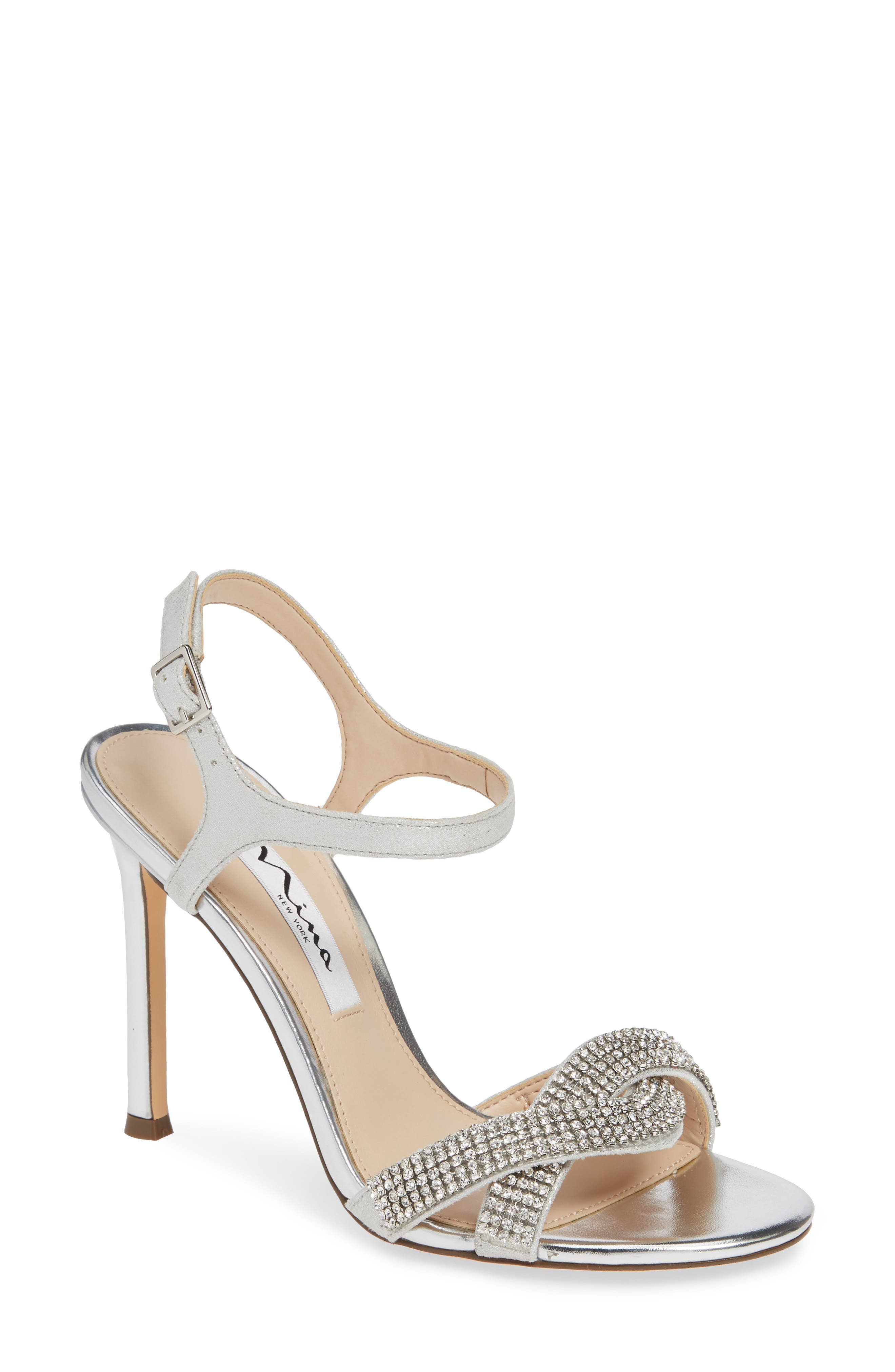 Nina Davia Crystal Ankle Strap Sandal