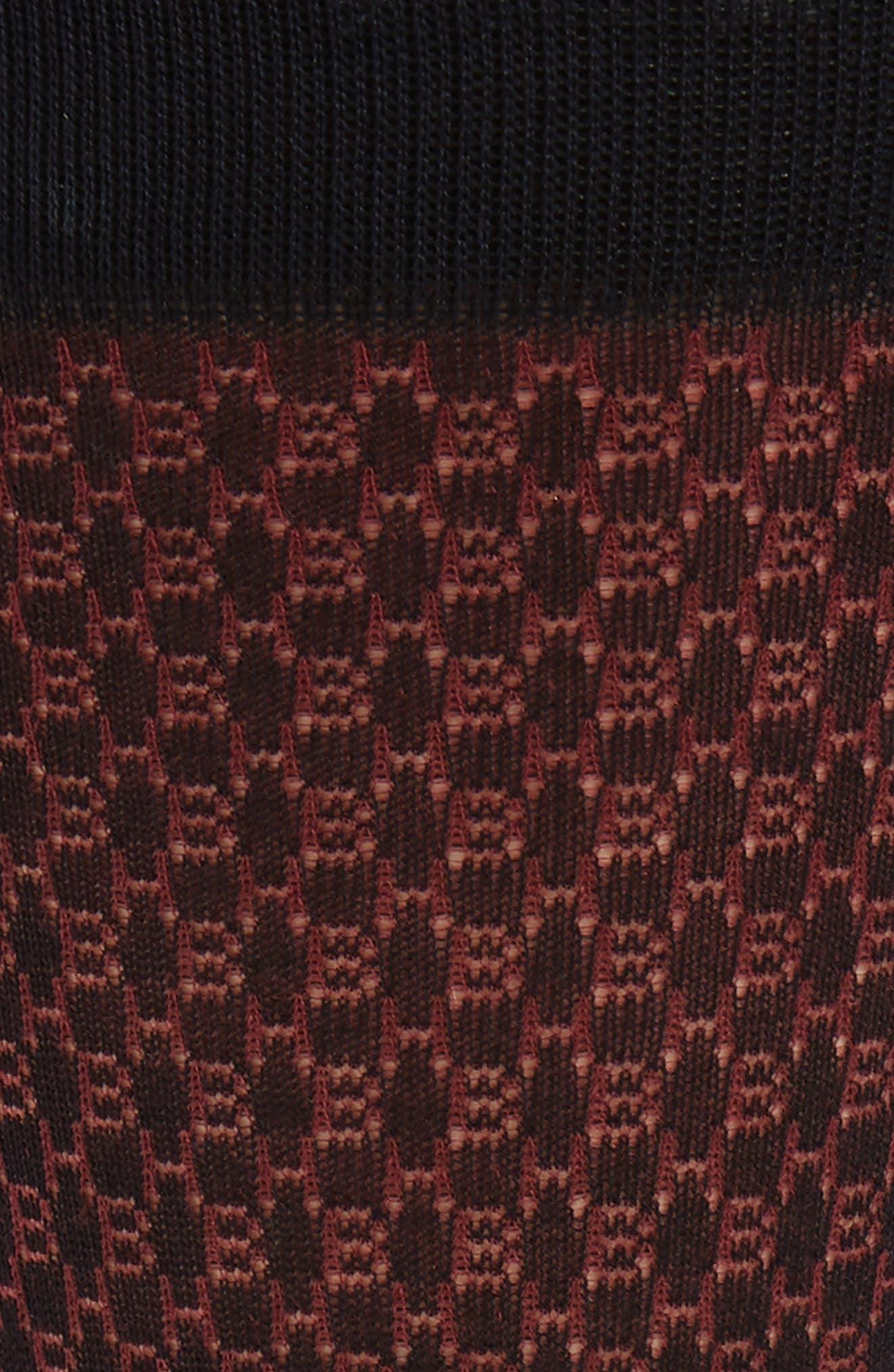 Geometric Socks,                             Alternate thumbnail 2, color,                             BLUE/ BURGUNDY