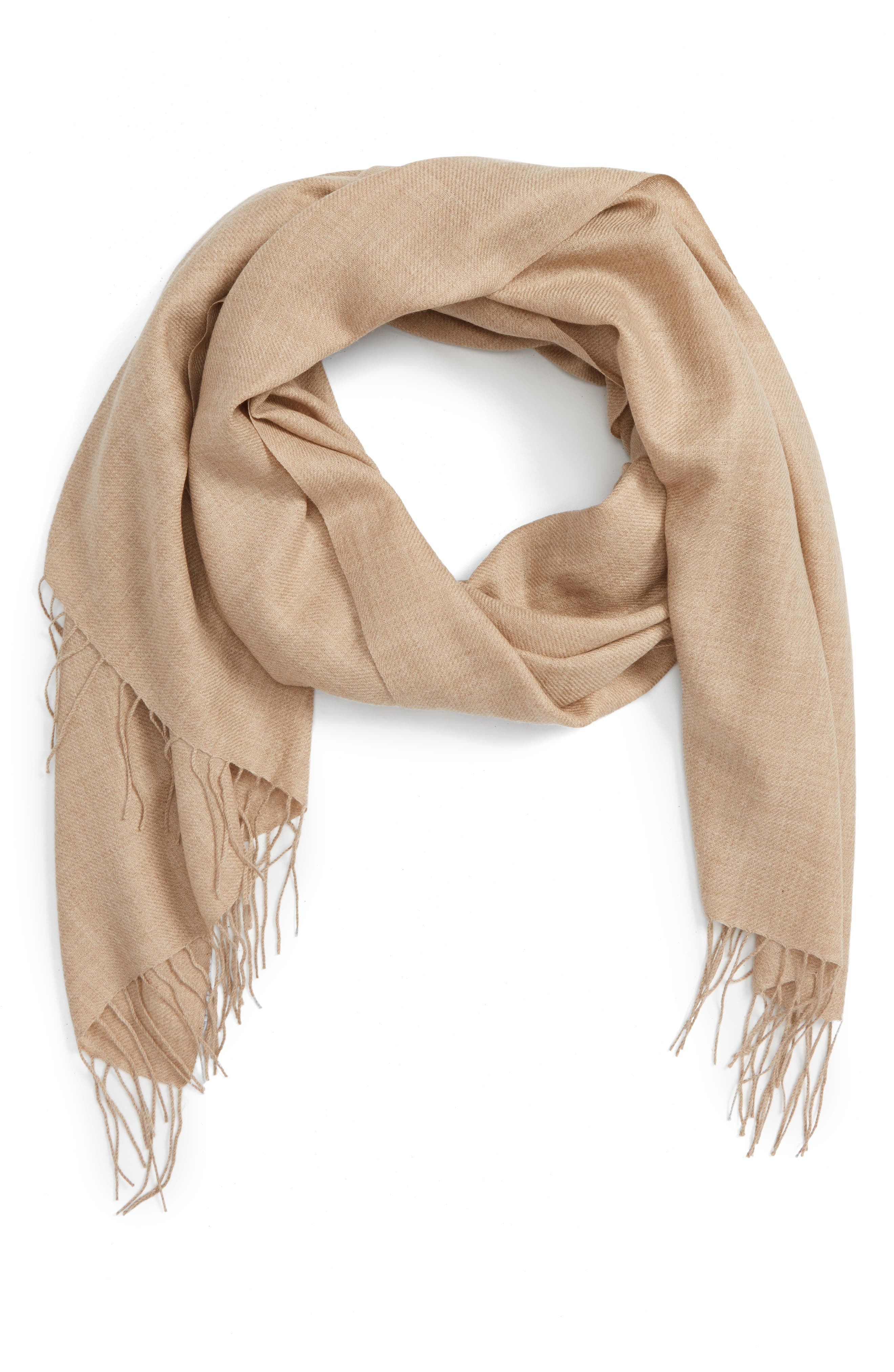 Tissue Weight Wool & Cashmere Scarf,                             Main thumbnail 24, color,