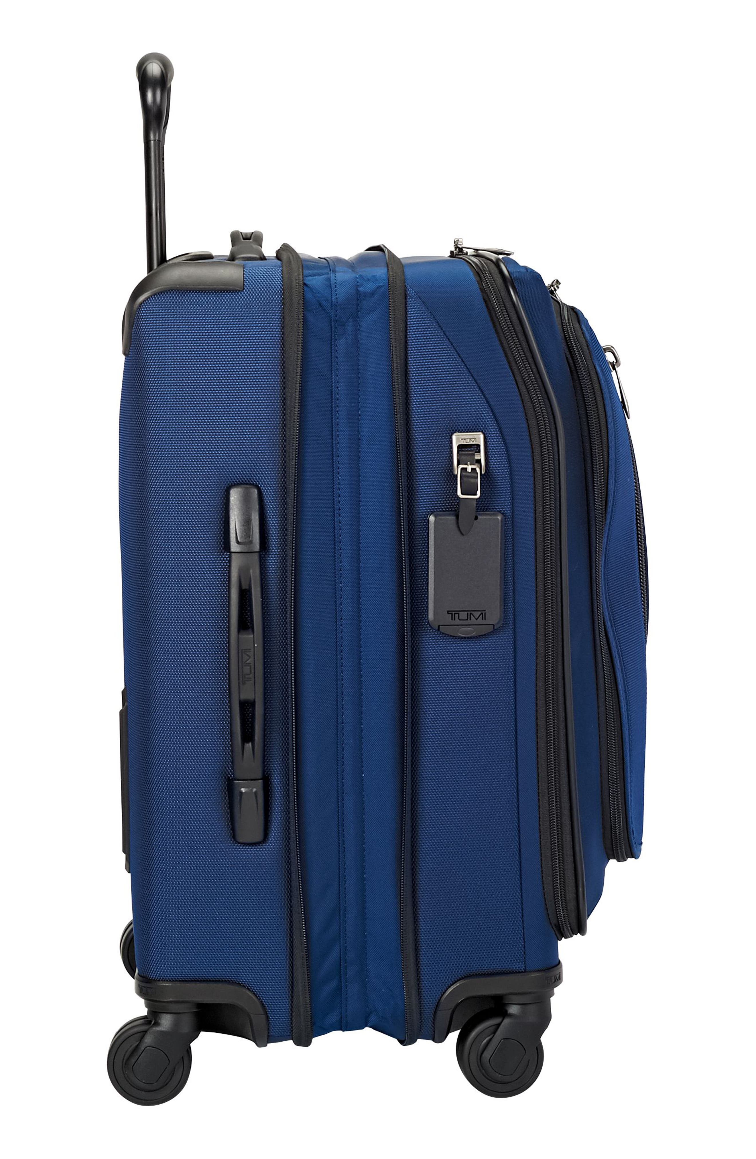 Merge - 22-Inch Continental Expandable Rolling Carry-On,                             Alternate thumbnail 3, color,                             OCEAN BLUE